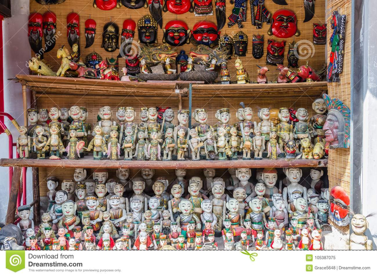 Display Variety Types Of Vietnamese Water Puppets For Sale