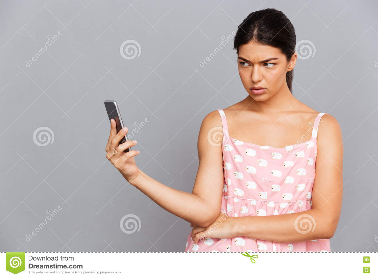 Woman Making Selfie Photo On Smartphone Stock Photography ...