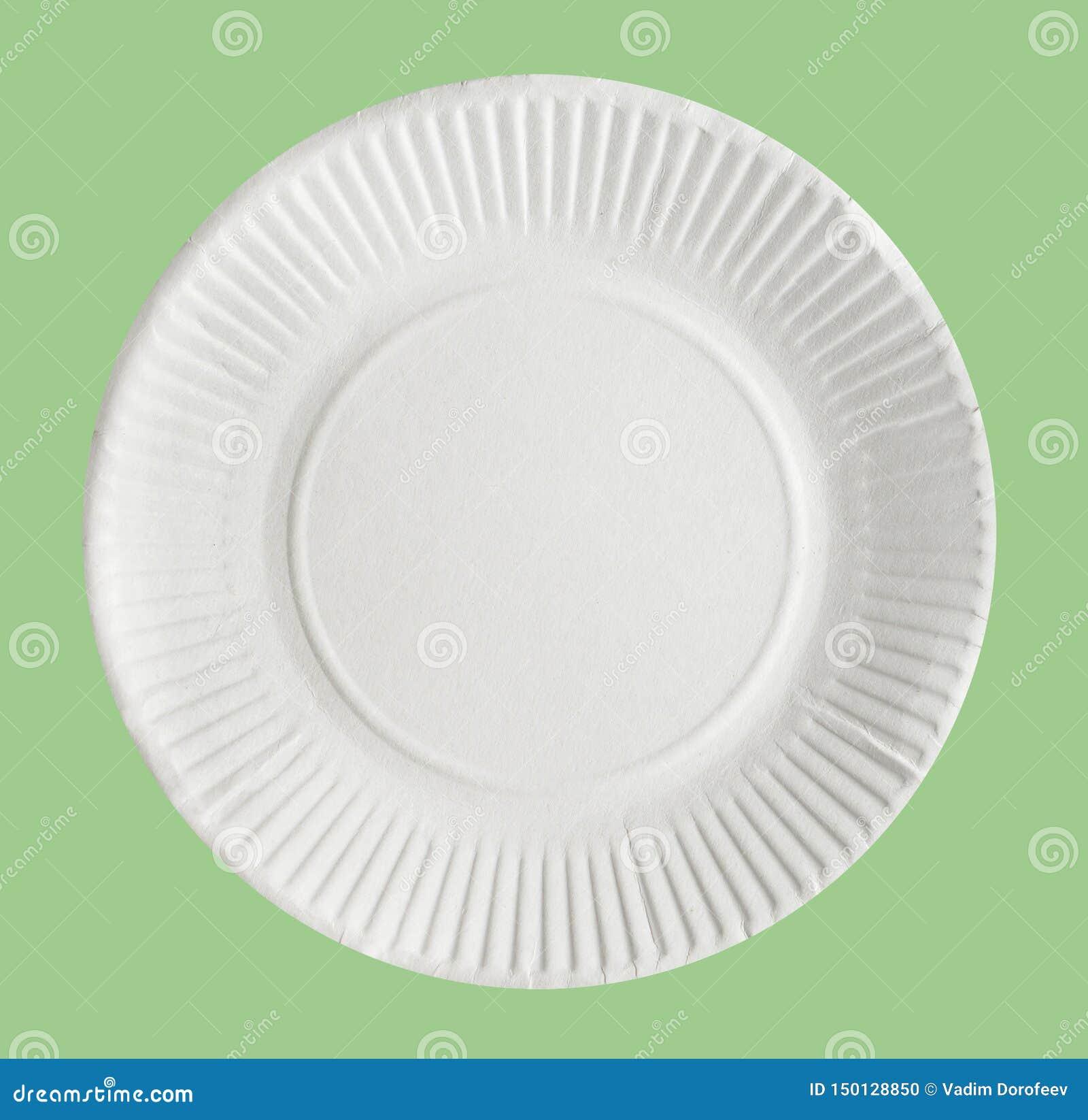 Disponibel pappers- platta som isoleras på ett ljust - grön bakgrund N?rbild
