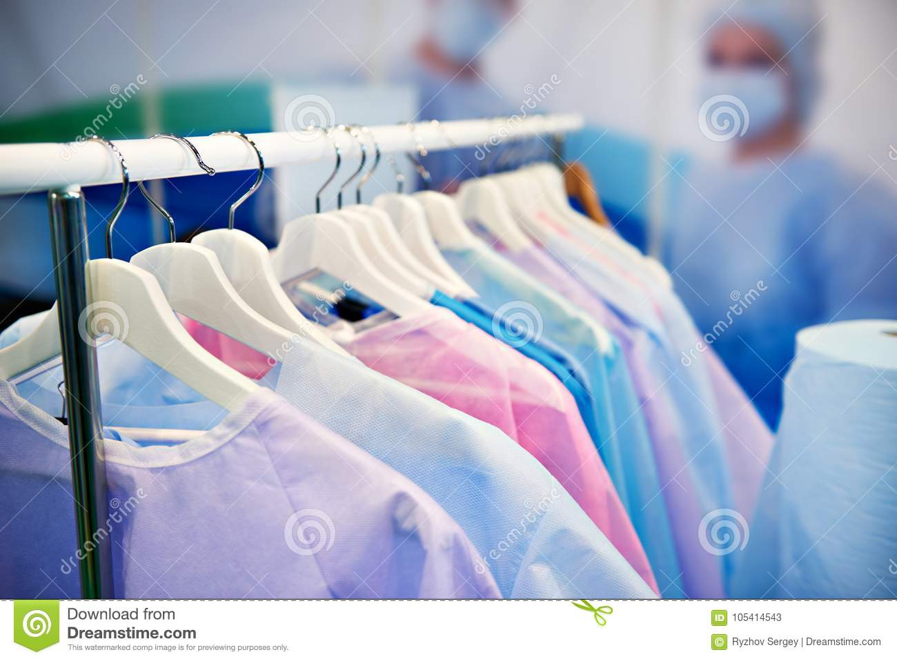 Disposable Medical Surgical Gowns Stock Image - Image of uniform ...
