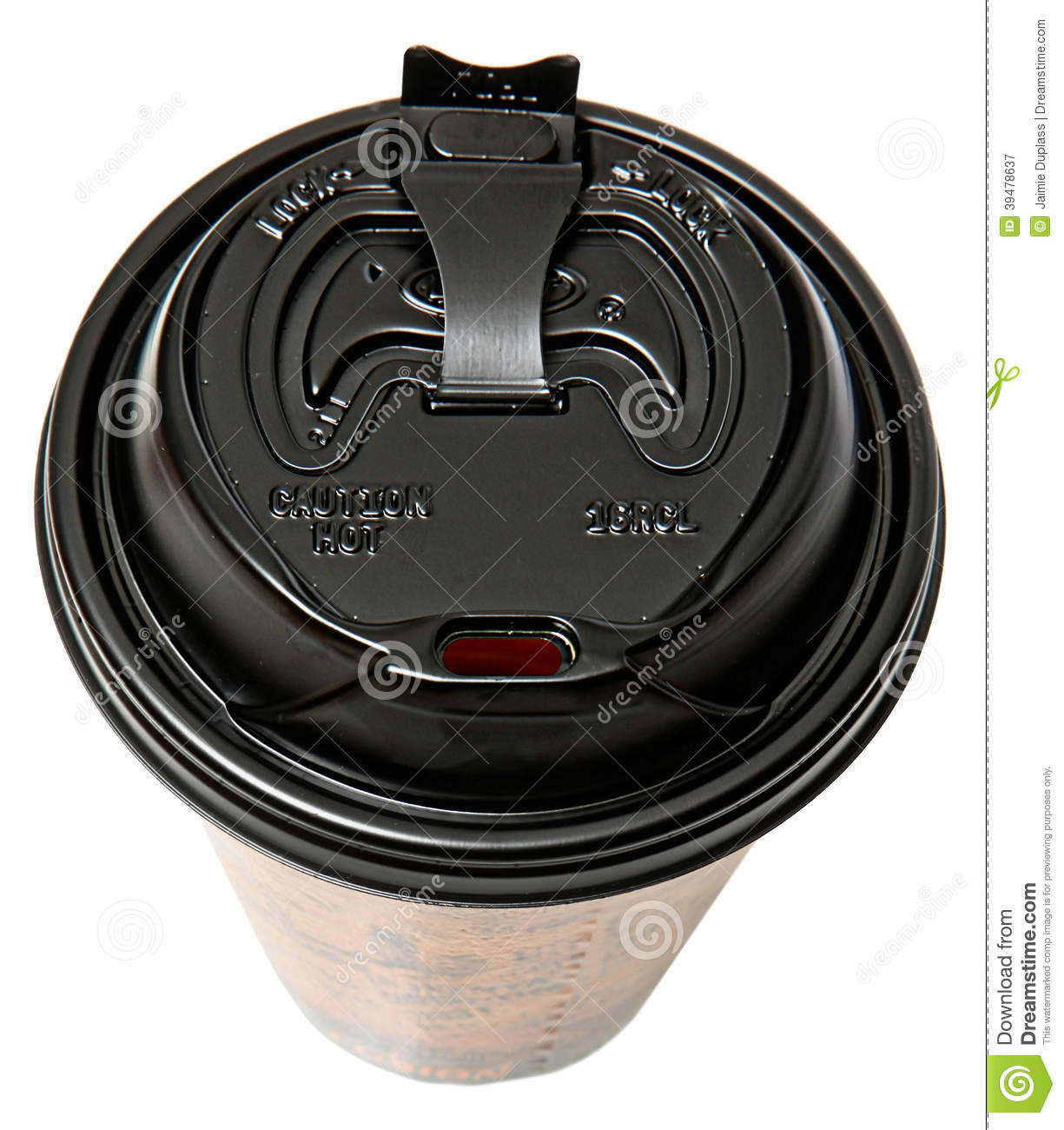 Disposable To Go Coffee Cup With Open Lid Stock Image ...