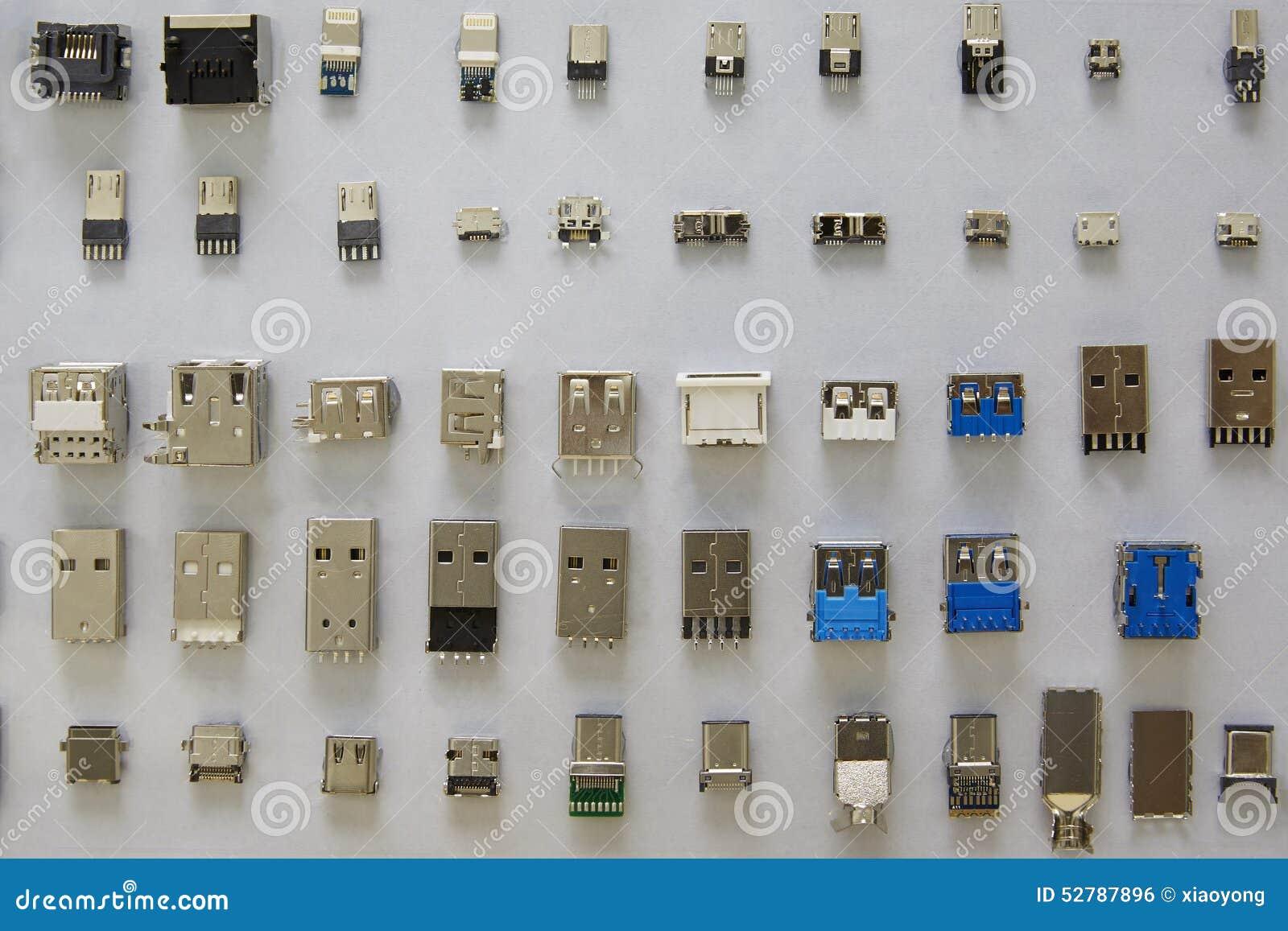 Disposição dos conectores