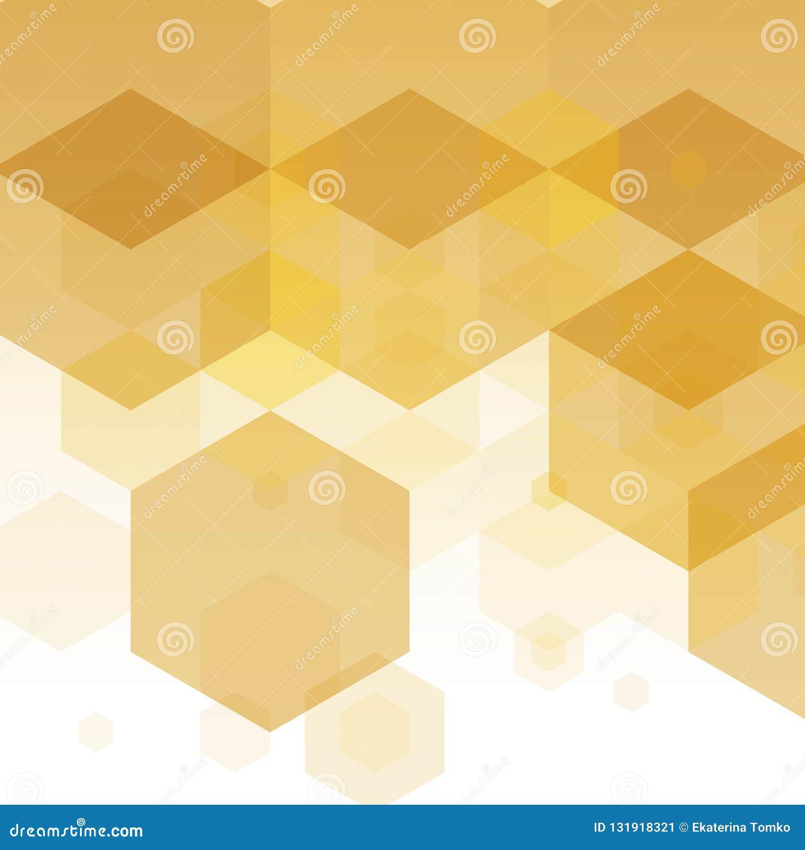 Disposição para anunciar, molde para o tipo Ideia para o negócio, projeto, decoração Máscaras douradas, amarelas, marrons EPS