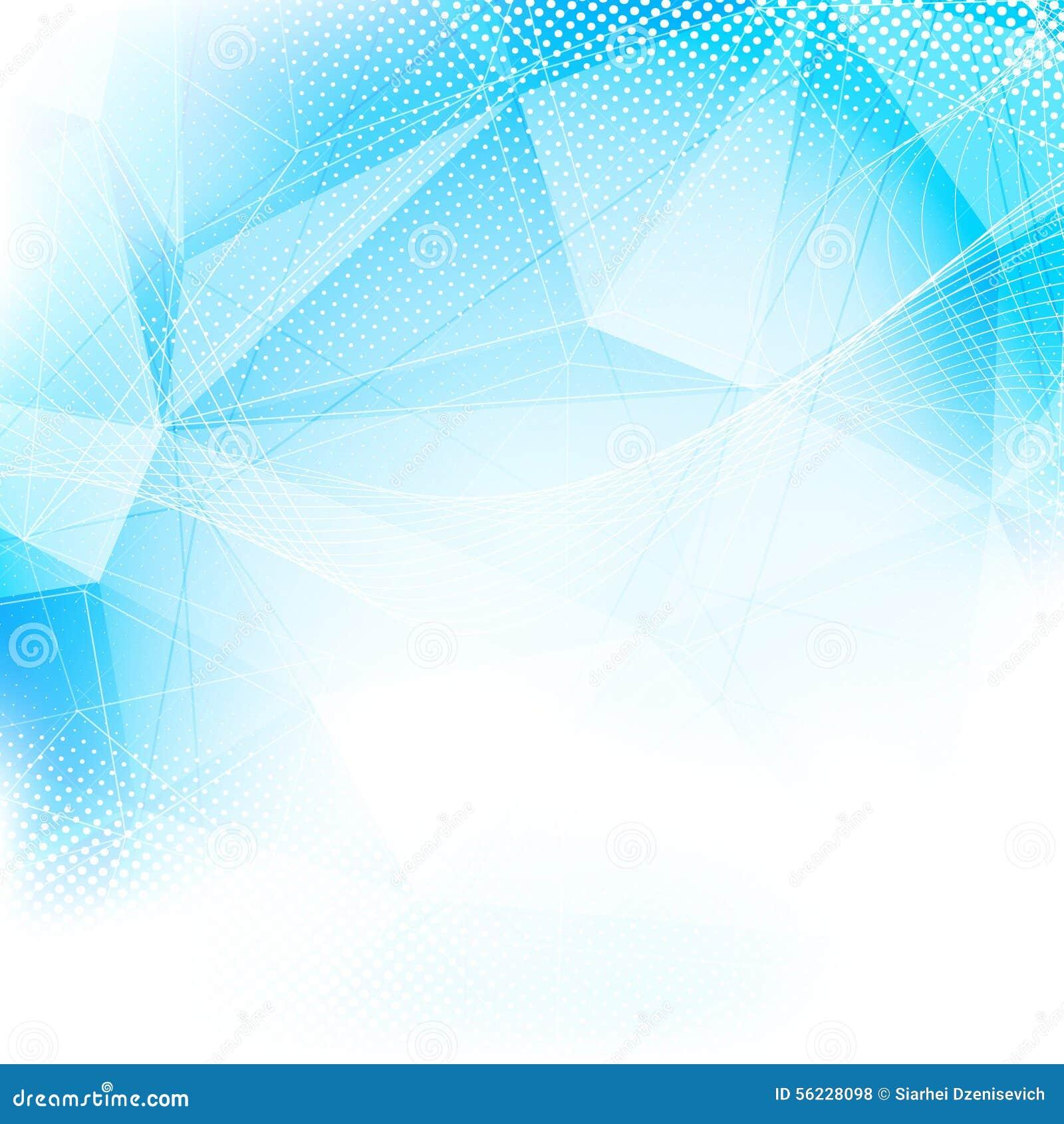 Disposición Azul Abstracta Moderna De La Estructura