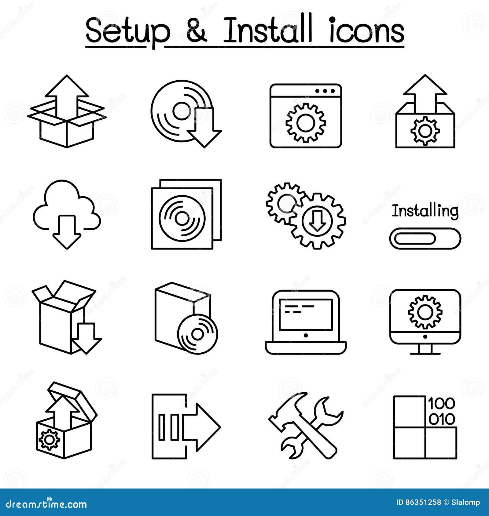 Disposición, configuración, mantenimiento y sistema del icono de la instalación