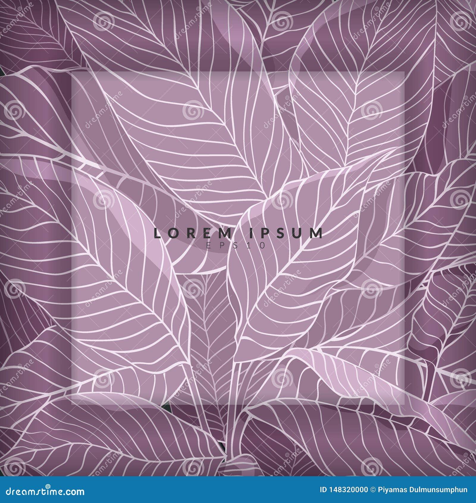 Disposición creativa hecha del bosquejo de hojas púrpuras como fondo con la capa blanca para el espacio de la copia, endecha plan