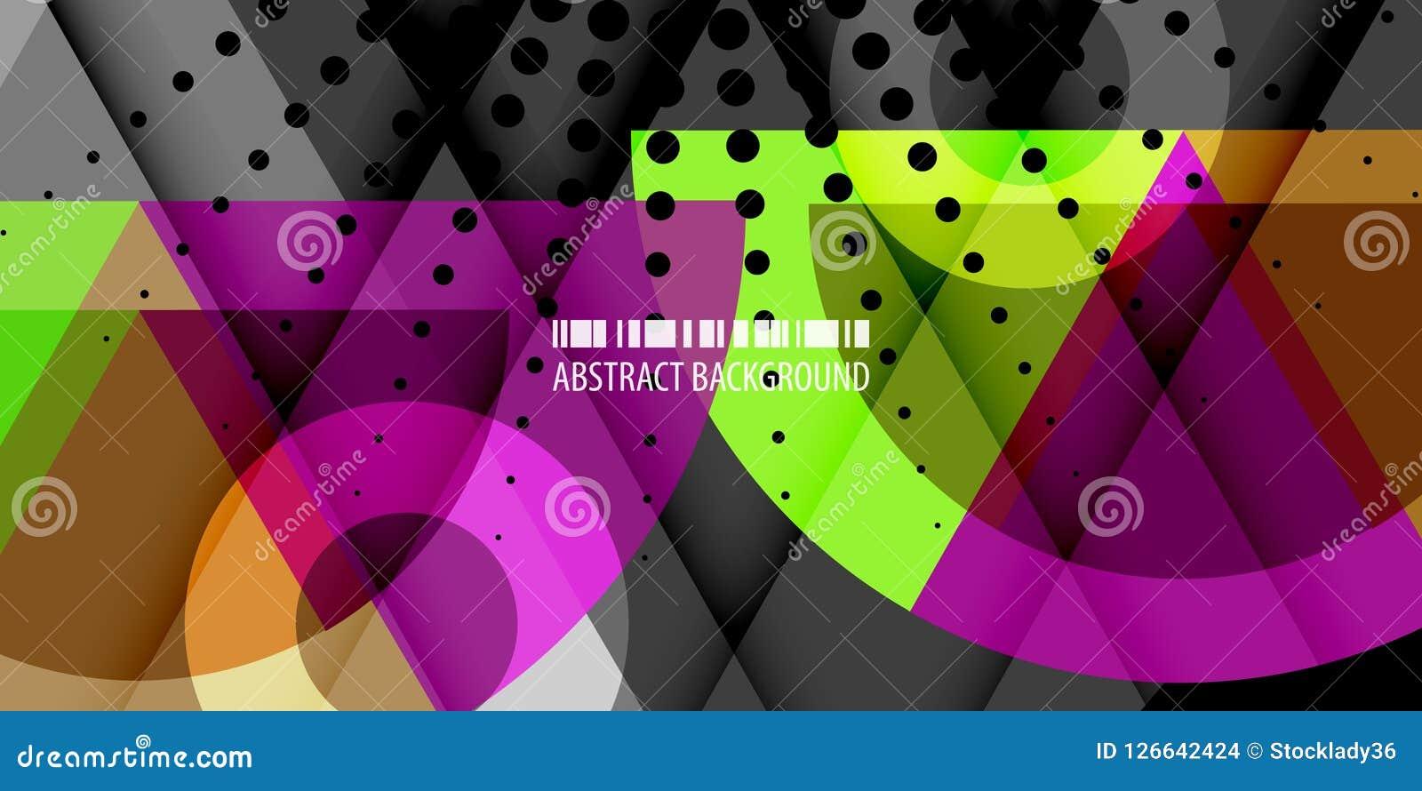 Disposición de diseño abstracta colorida geométrica de la plantilla del fondo de la forma Stock de ilustración
