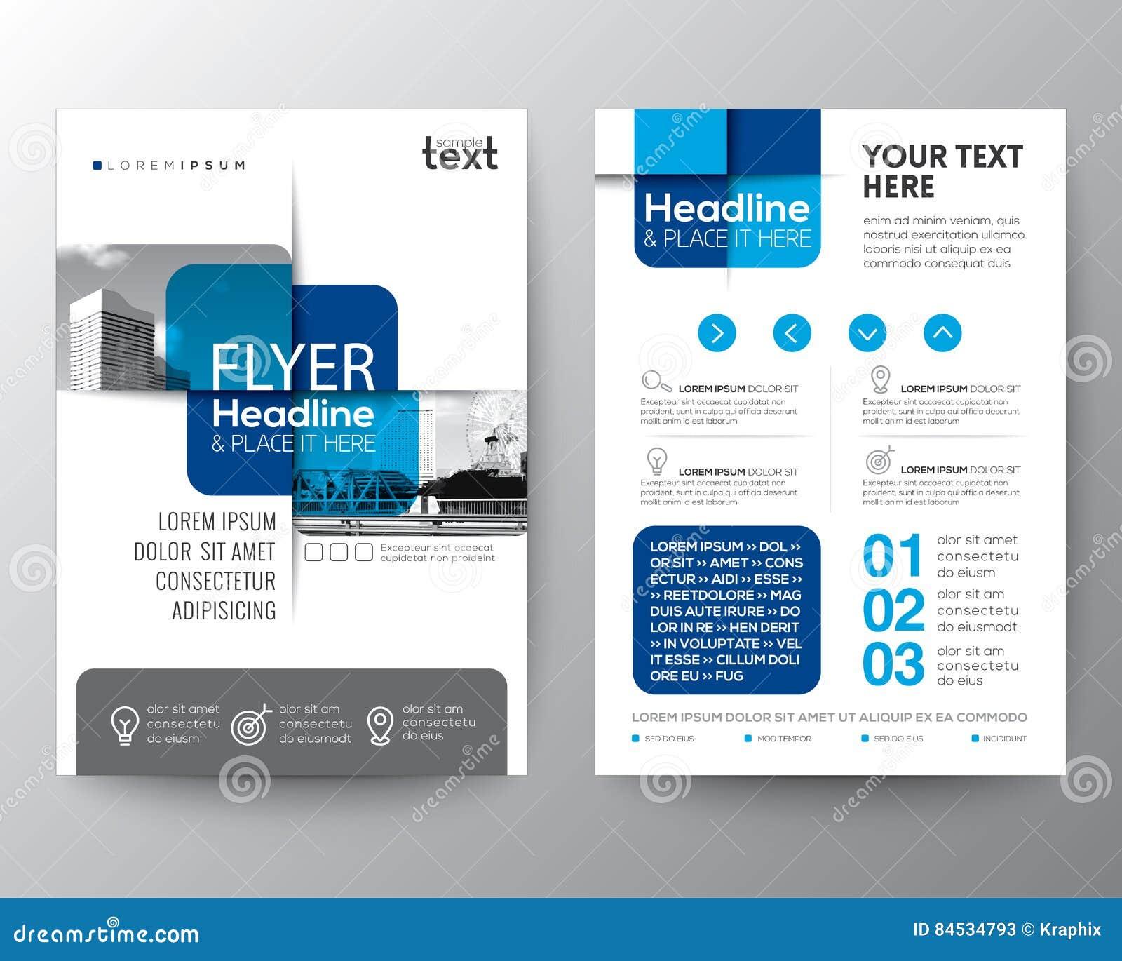 Disposición de diseño gráfica cruzada azul del cartel del aviador de la cubierta del folleto del elemento