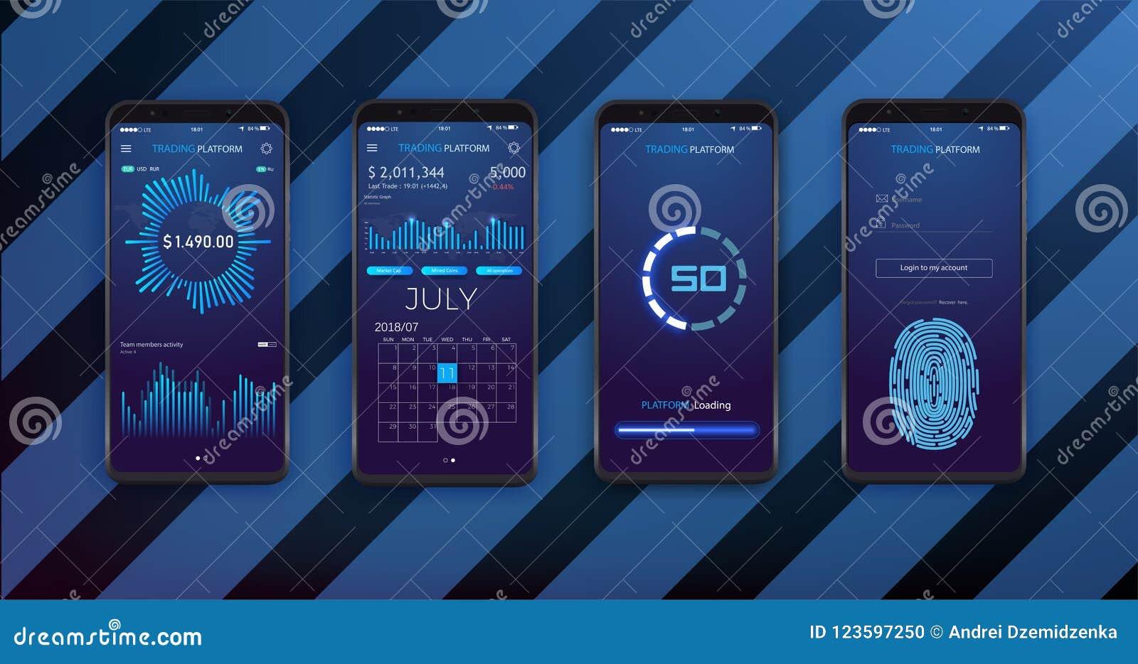 Disposición De La Plantilla De UI, De UX Y Del GUI Para Apps Móvil ...