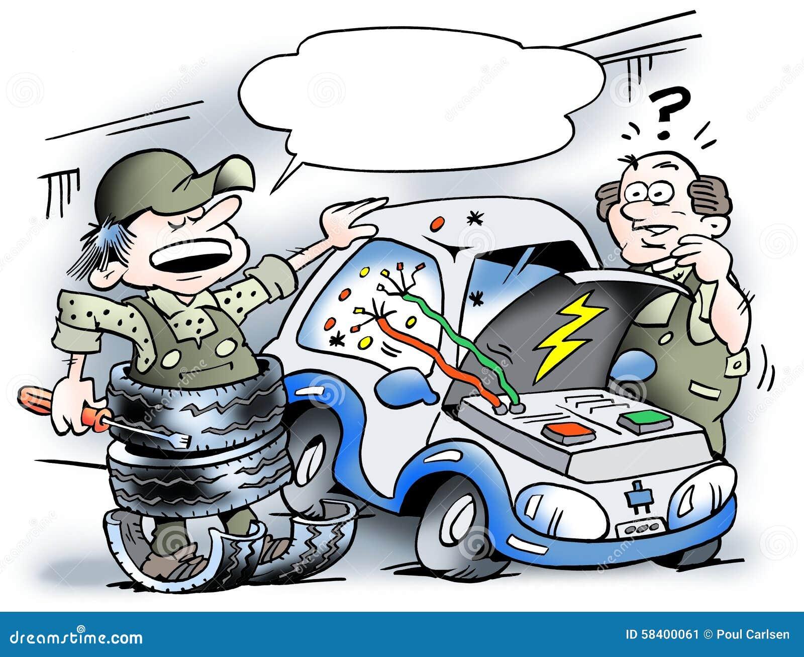 dispositif de protection pour la r paration de la voiture lectrique illustration stock image. Black Bedroom Furniture Sets. Home Design Ideas