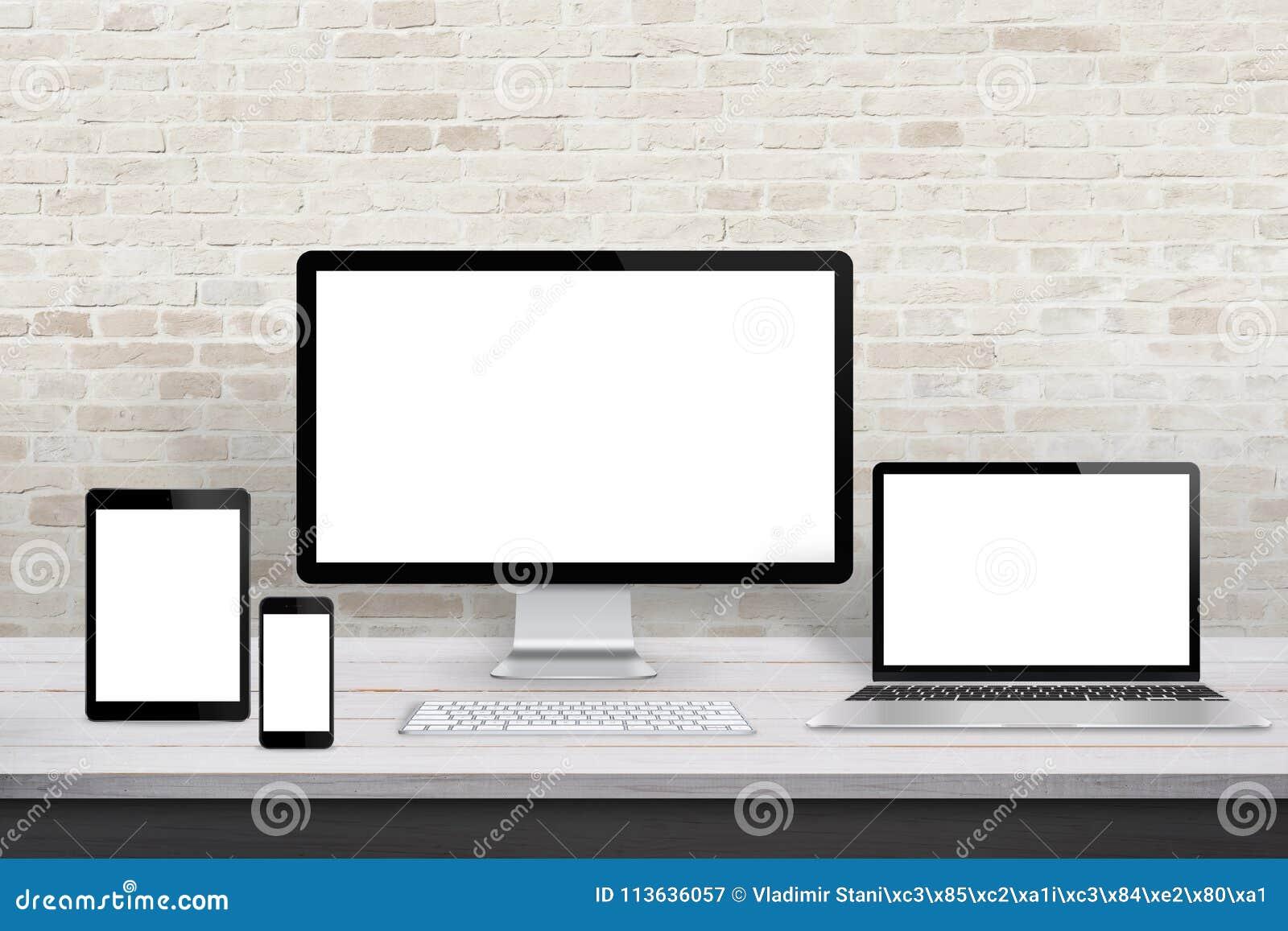 Dispositifs d affichage multiples pour la promotion desing de Web sensible