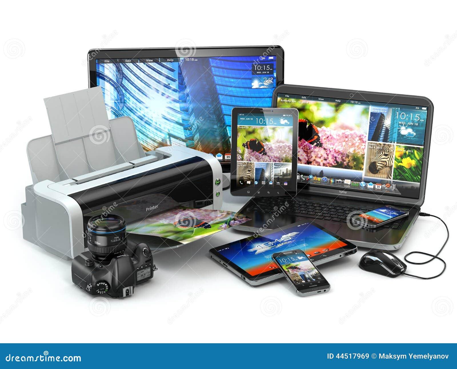 Dispositifs d ordinateur Téléphone portable, ordinateur portable, imprimante, appareil-photo et tabl