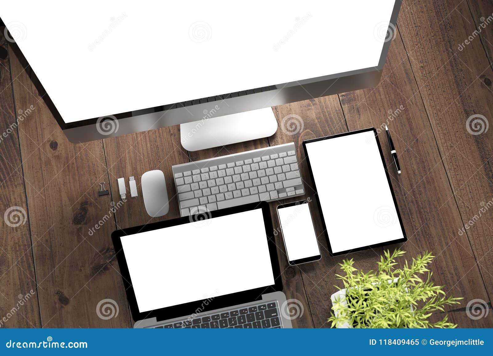 Dispositifs de bureau en bois