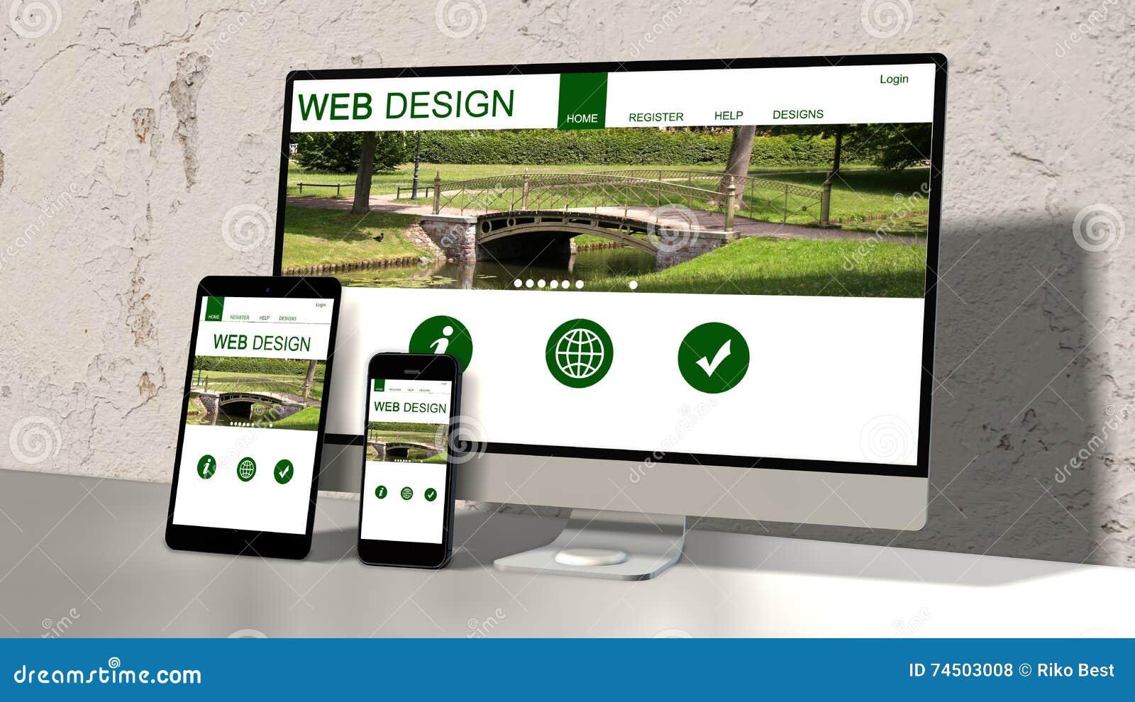Dispositifs sensibles avec la conception sensible de site Web