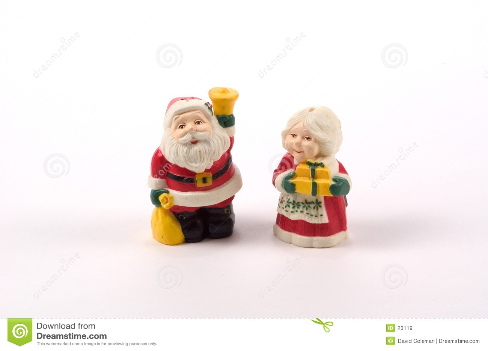 Dispositifs trembleurs de sel et de poivre de Noël