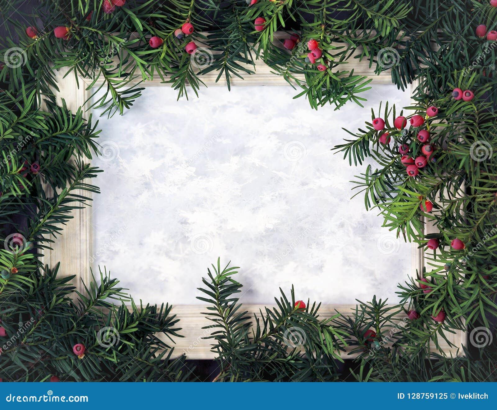 Disposition créative faite à partir des branches d arbre de Noël avec le berri rouge