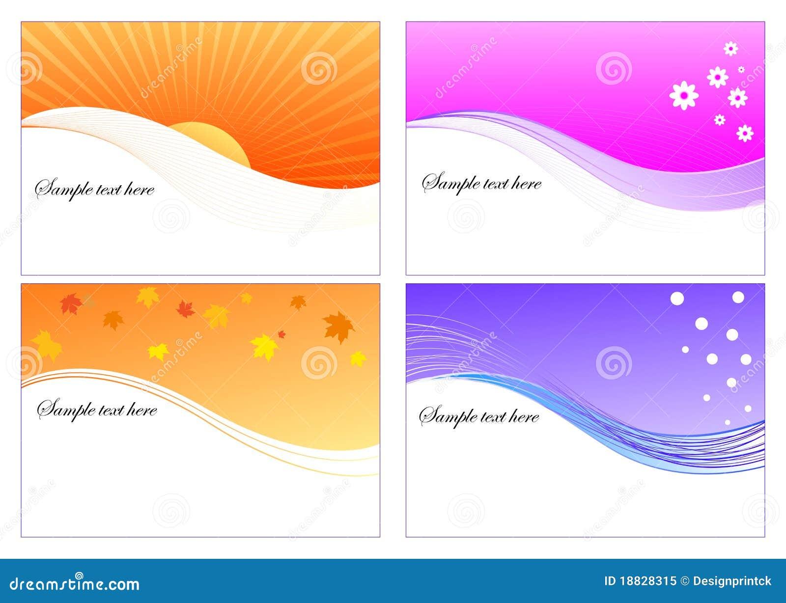 Disposition de dessin de 4 saisons illustration de vecteur illustration du automne calme - Dessin 4 saisons ...