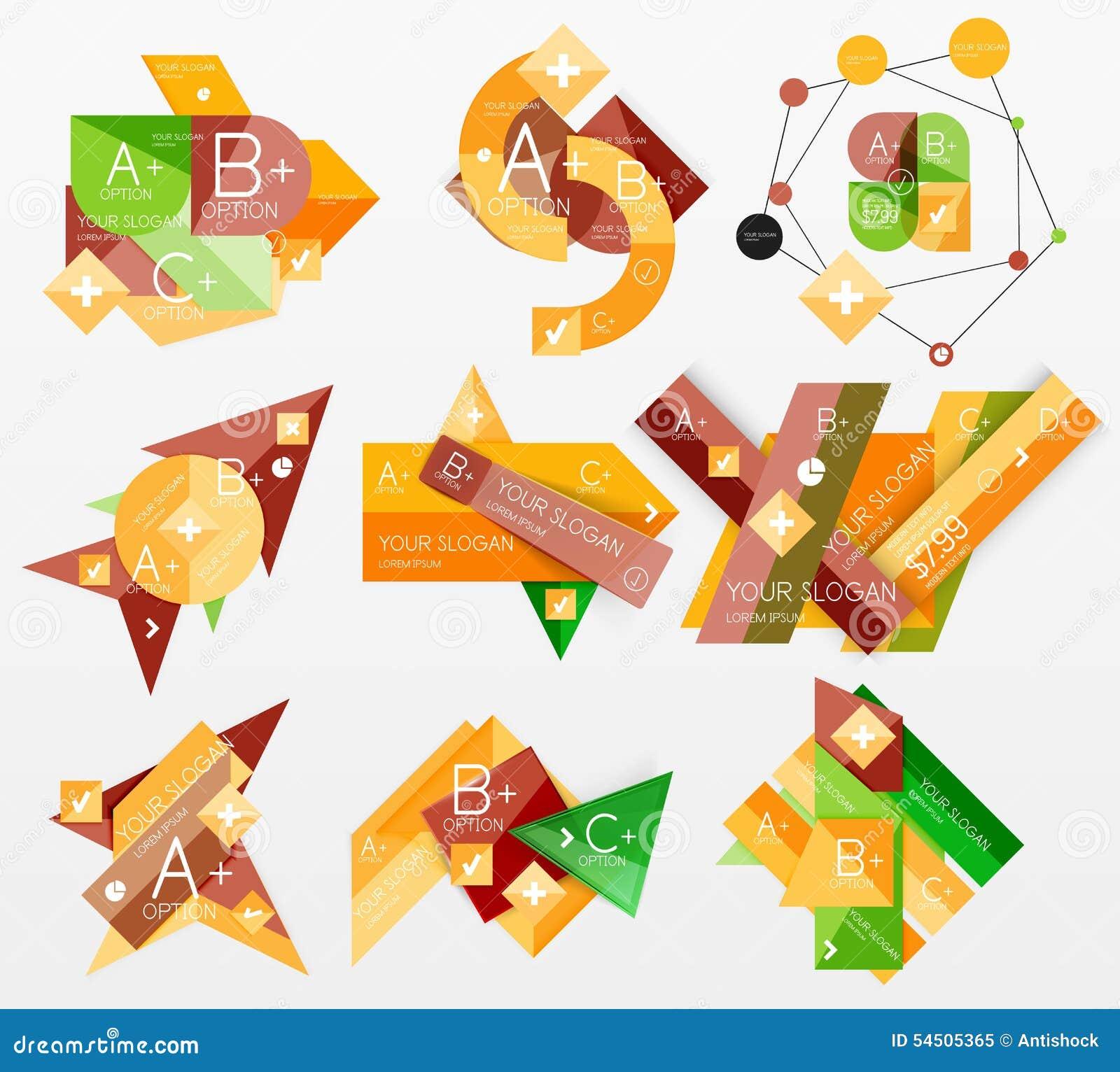 Dispositions infographic de Web de graphiques de papier