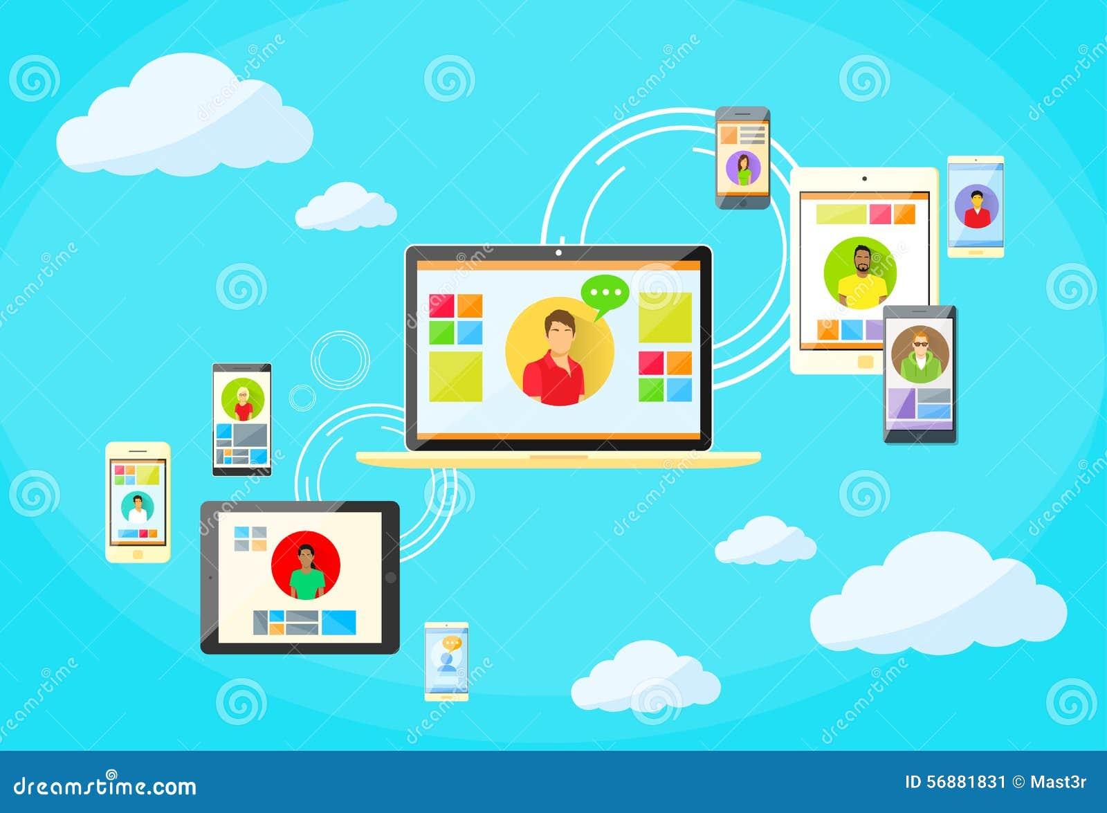 Dispositivo di Internet di concetto del collegamento di rete sociale