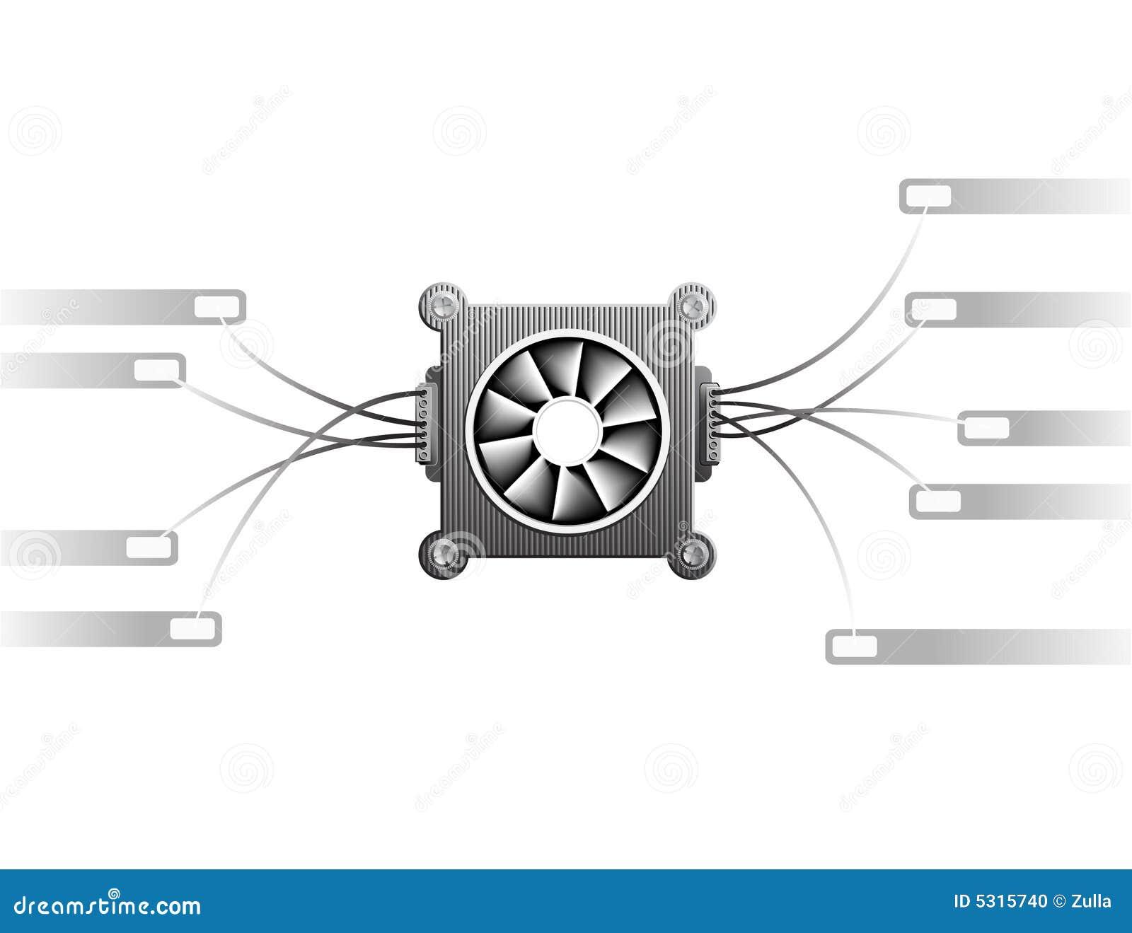 Download Dispositivo Di Raffreddamento Illustrazione Vettoriale - Illustrazione di ventilatore, freddo: 5315740