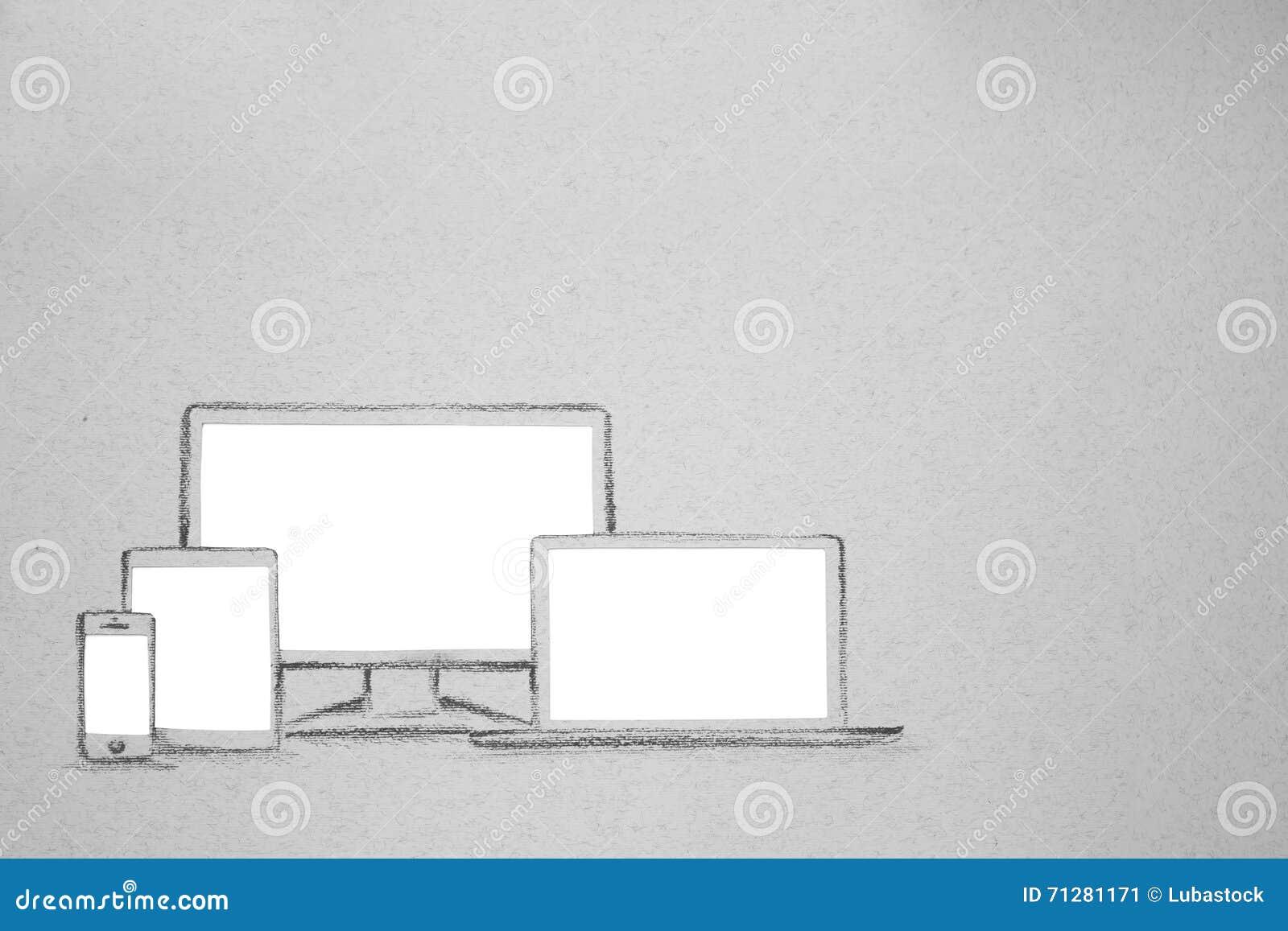 Dispositivo fijado en el papel