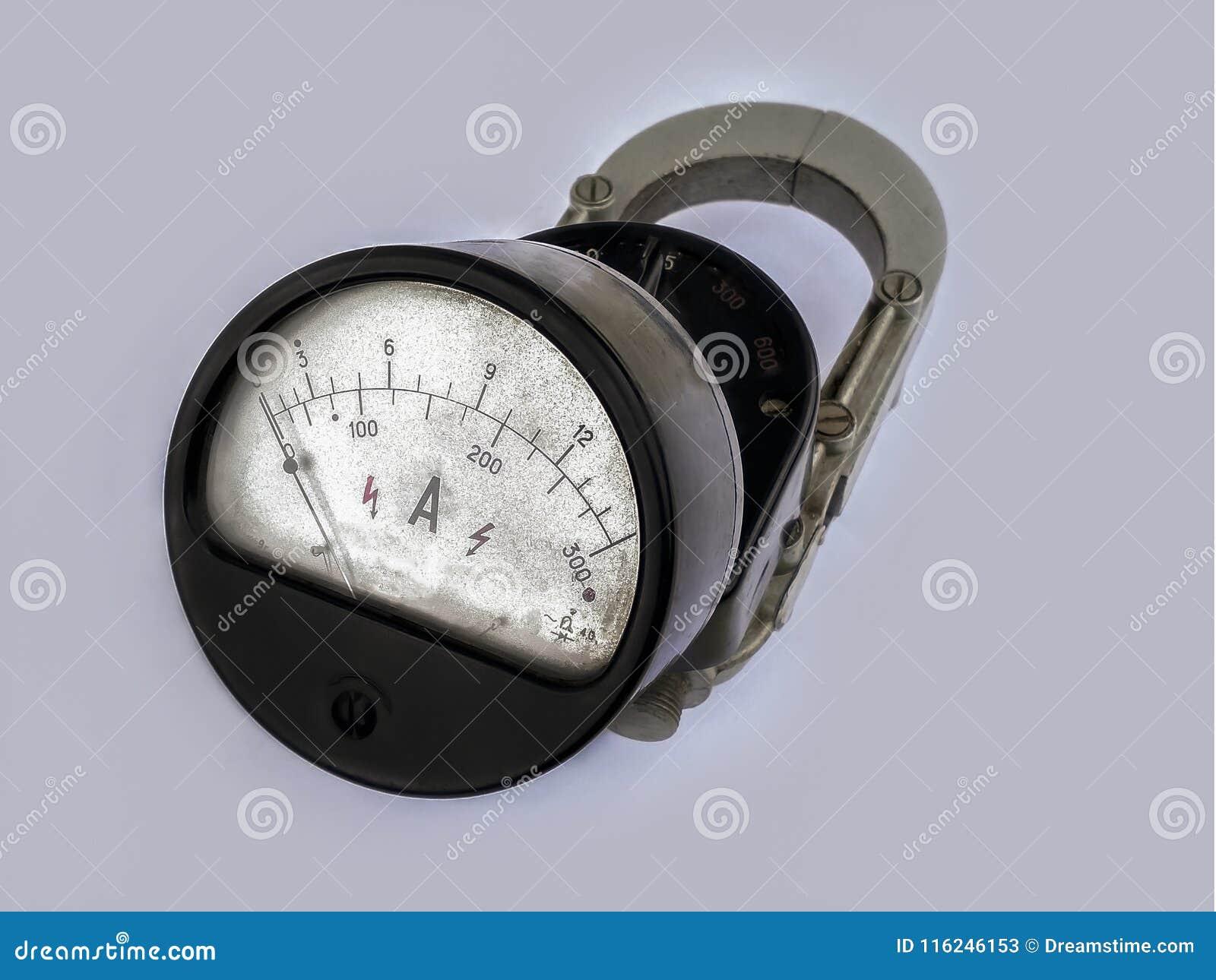 Dispositivo velho, tempos do soviete do amperímetro
