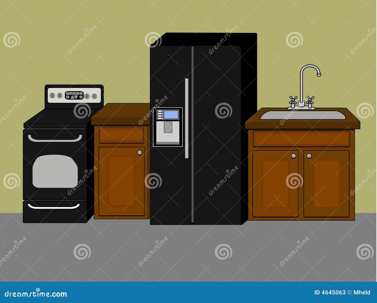 Dispositivos de cozinha básicos e f