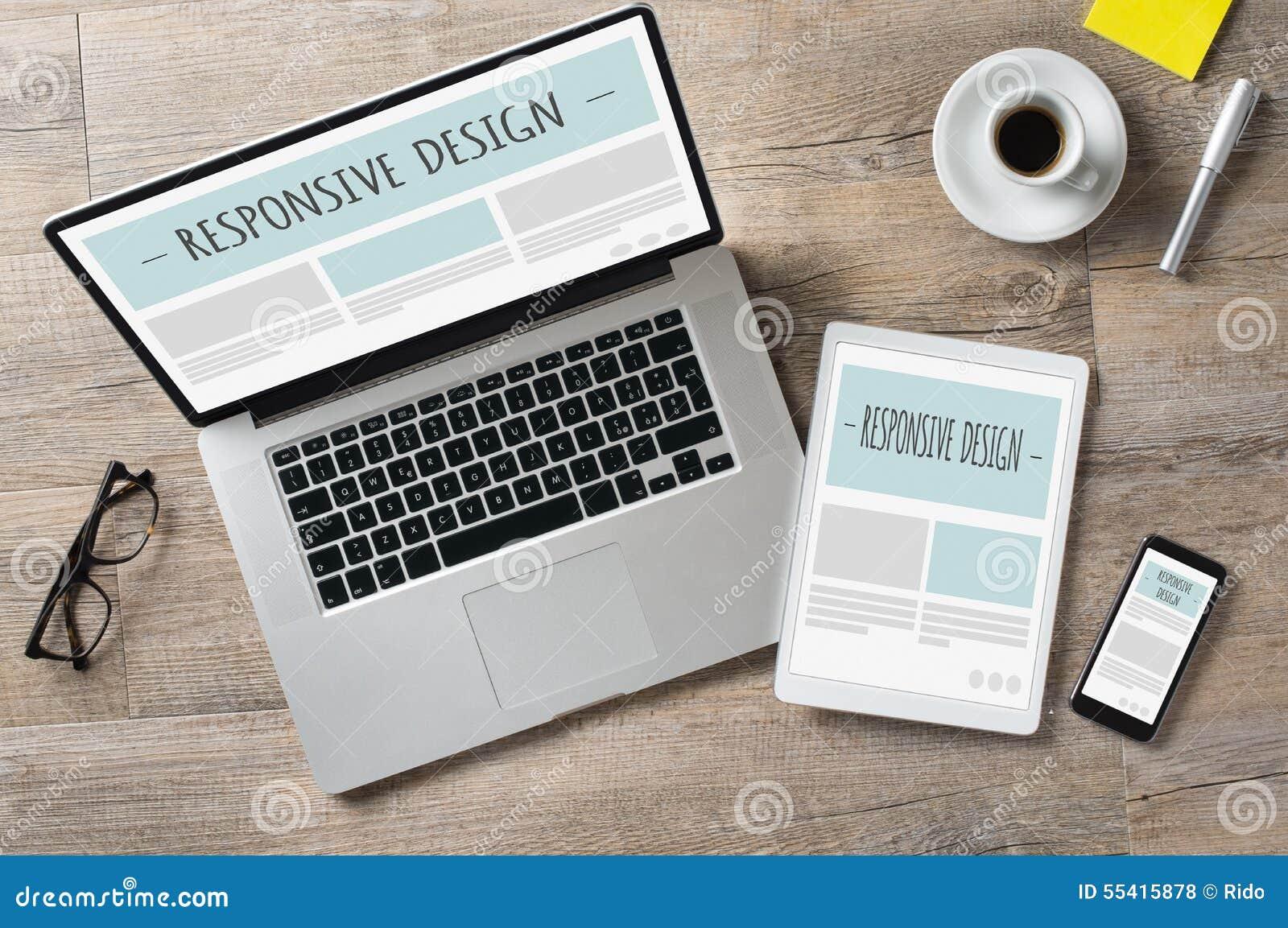 Dispositivos responsivos del diseño y del web