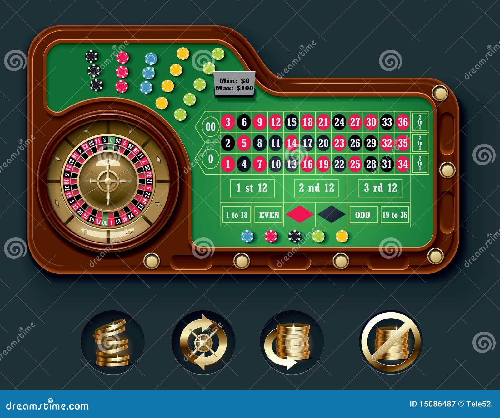 Disposizione americana della tabella delle roulette di vettore