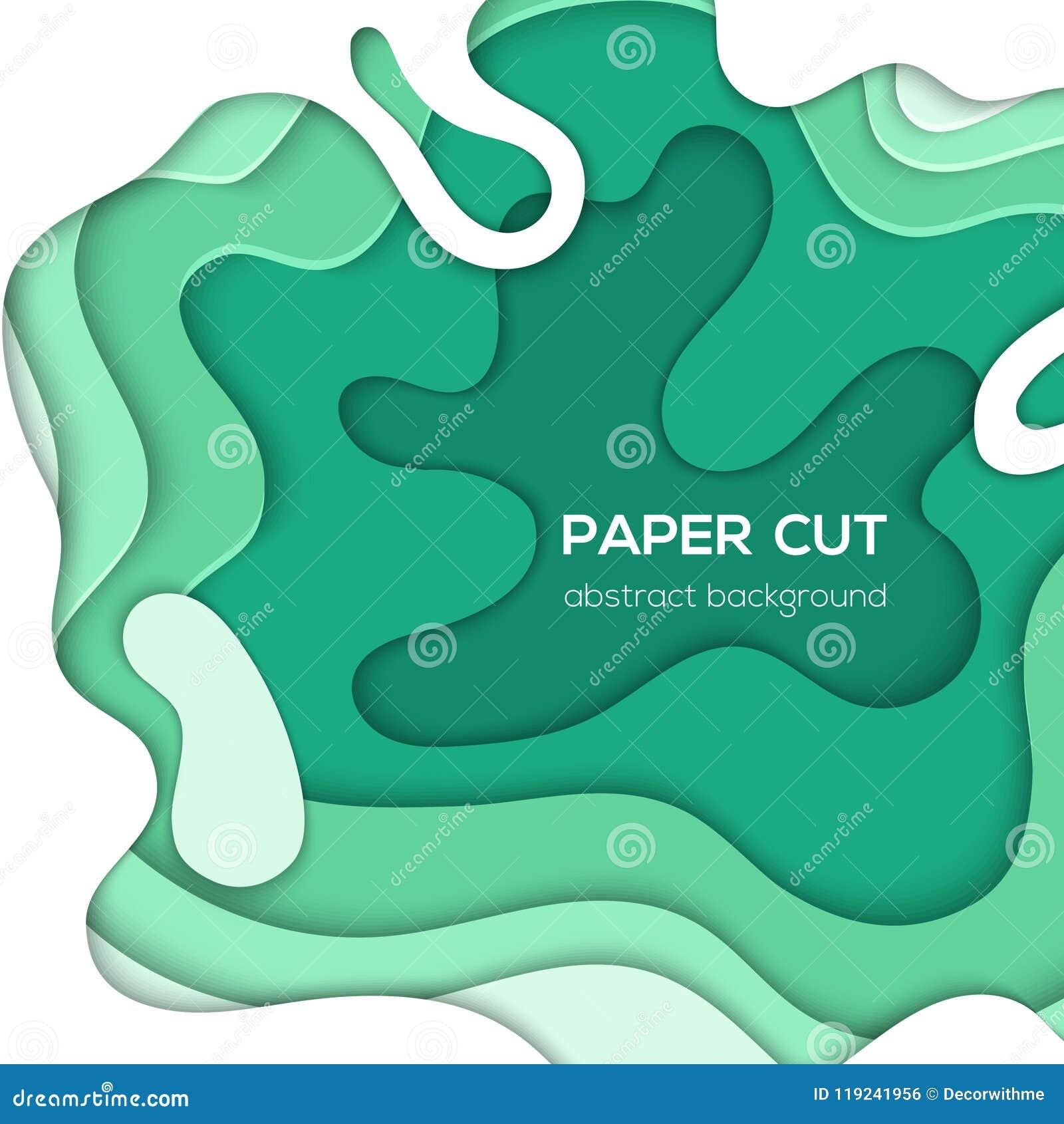 Disposizione astratta verde - la carta di vettore ha tagliato l illustrazione