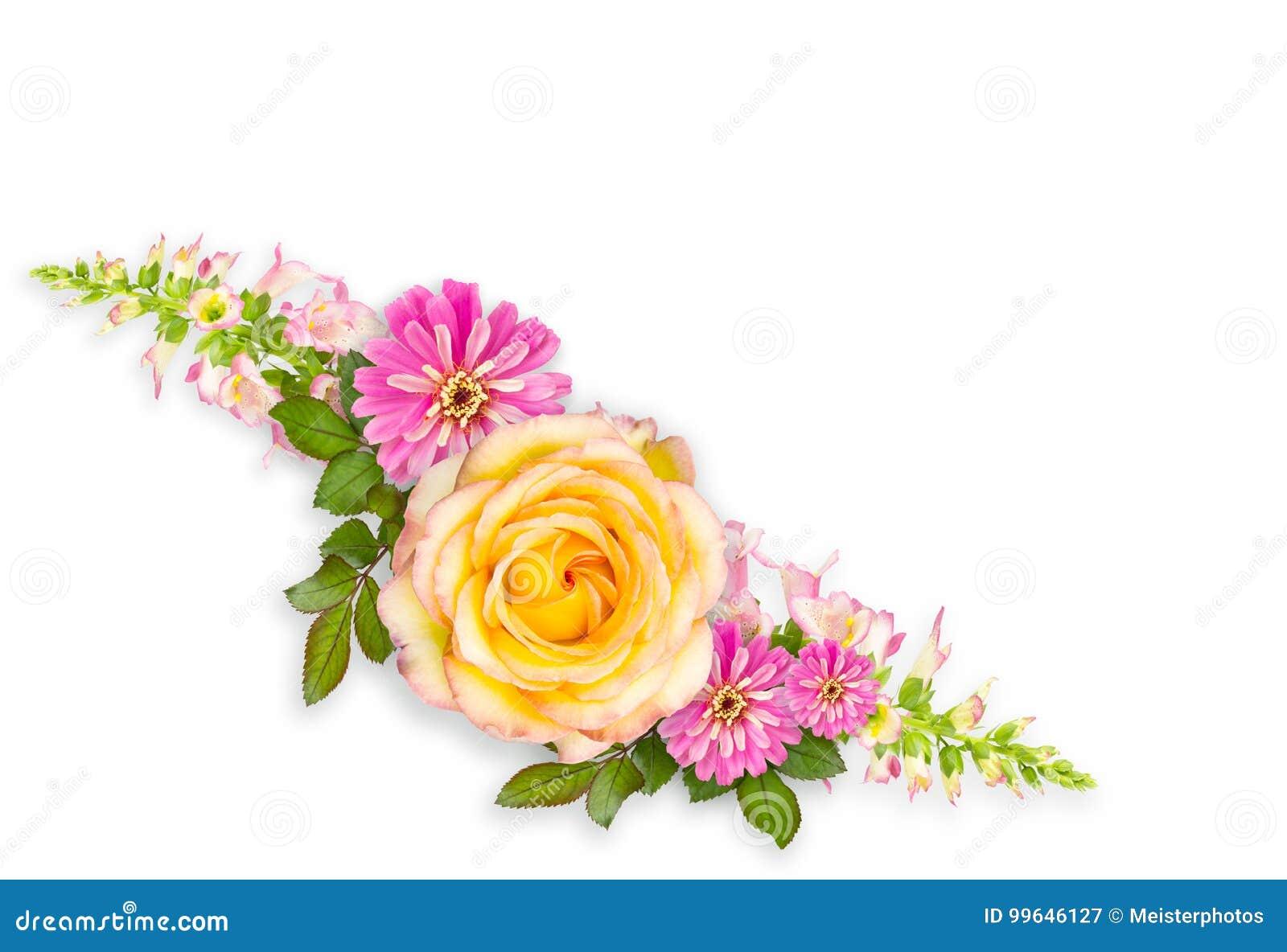 Disposizione del montaggio del fiore con lo spazio della copia