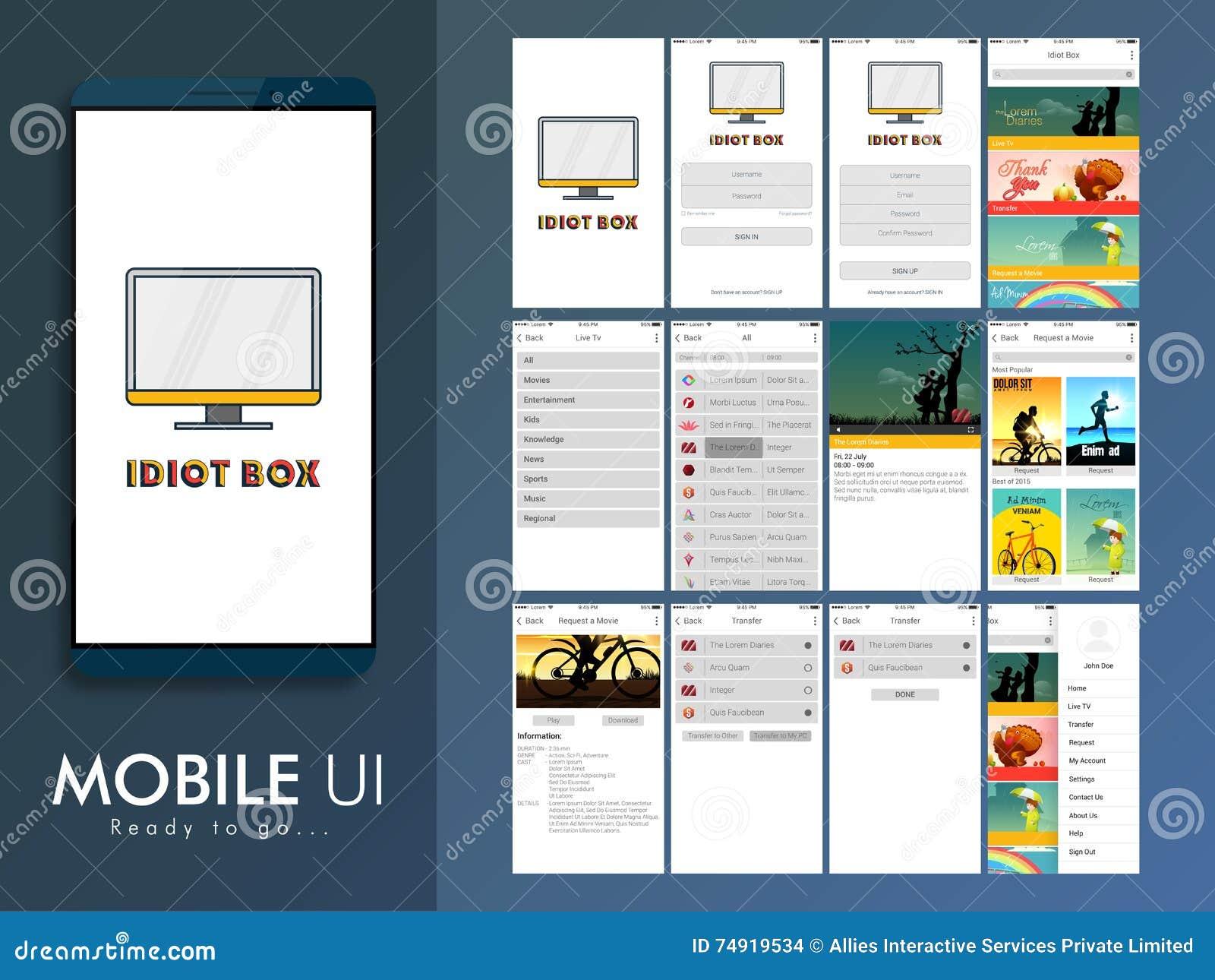 Disposizione materiale di progettazione di ui di ux e for Software di progettazione di layout di costruzione gratuito