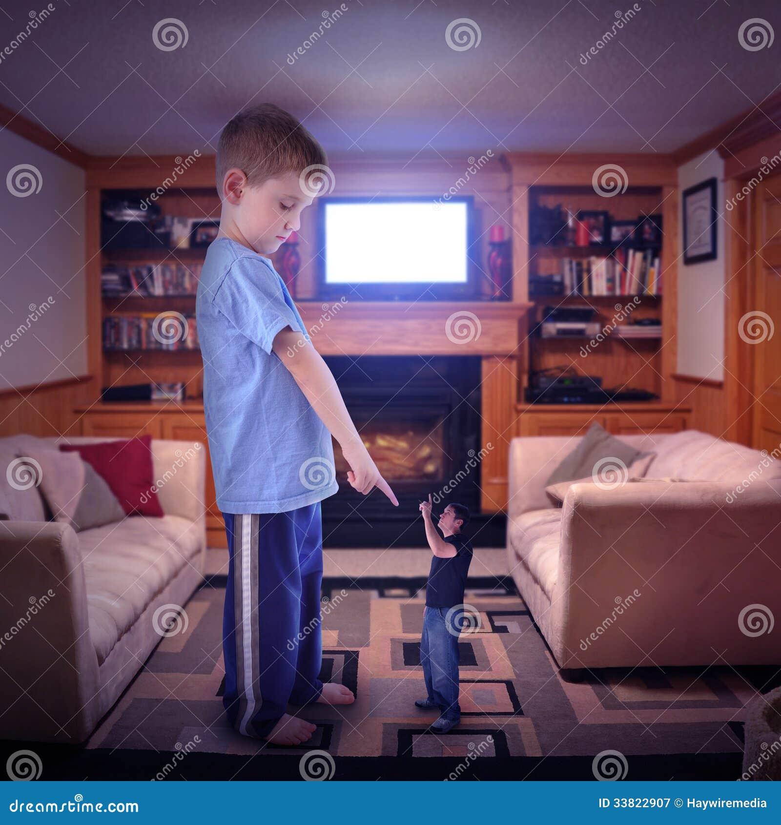 Disputa de família da televisão