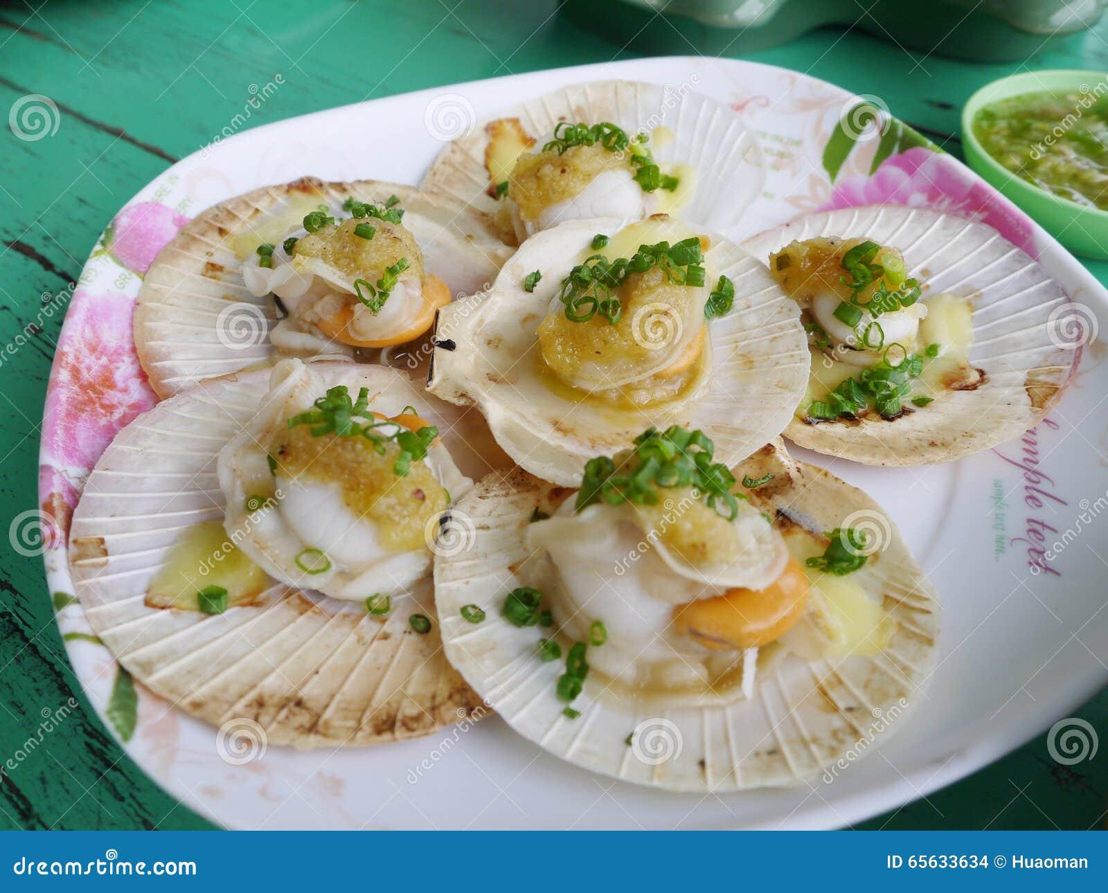 Disque délicieux de fruits de mer, Thaïlande