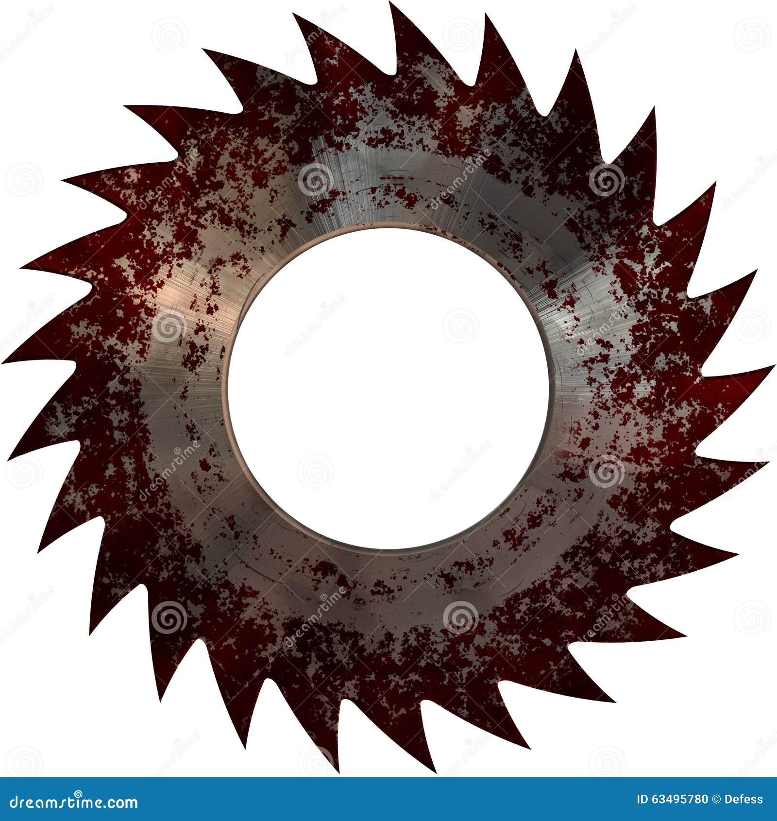 Disque de sang de scie de circulaire illustration stock - Disque scie circulaire ...