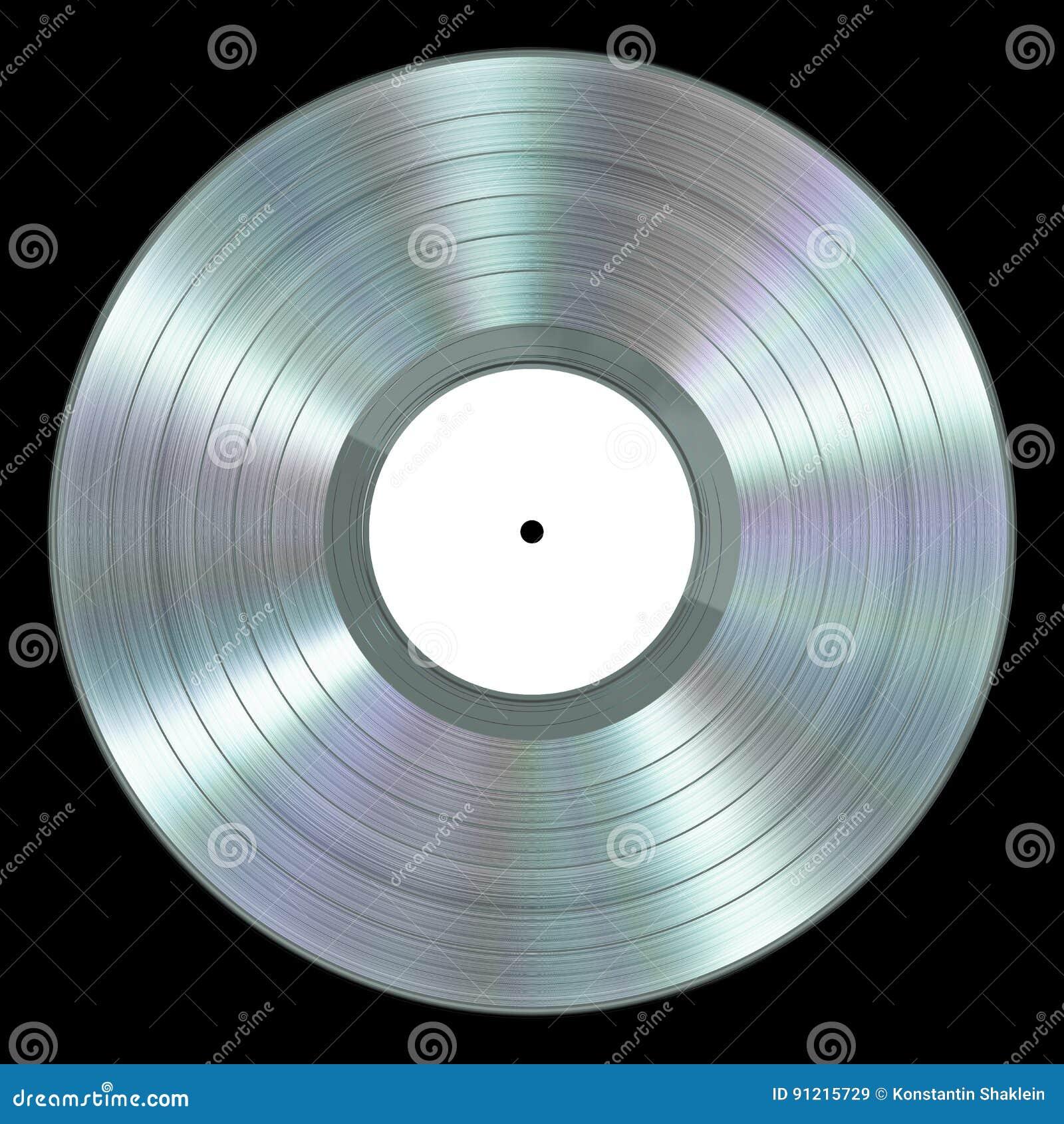 disque vinyle r aliste de platine sur le fond noir. Black Bedroom Furniture Sets. Home Design Ideas