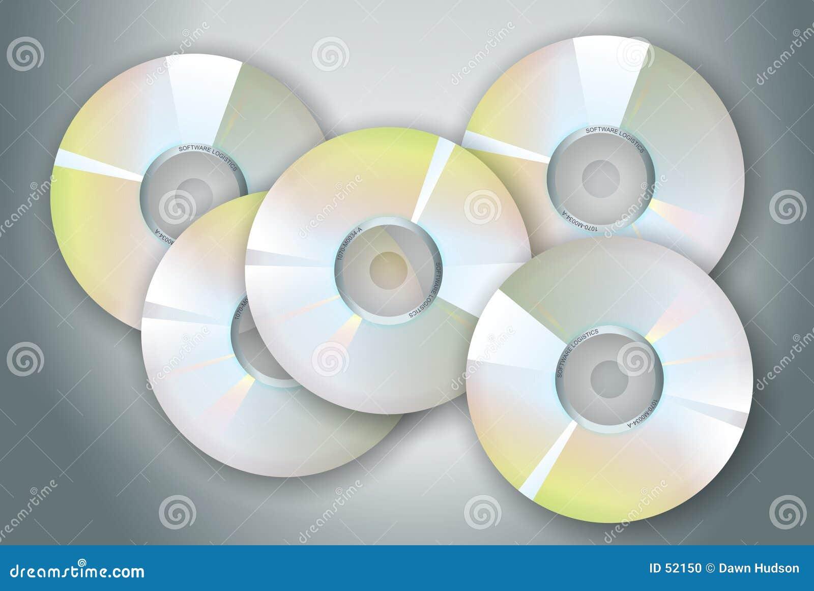 Download Disques compacts-ROM illustration stock. Illustration du medias - 52150