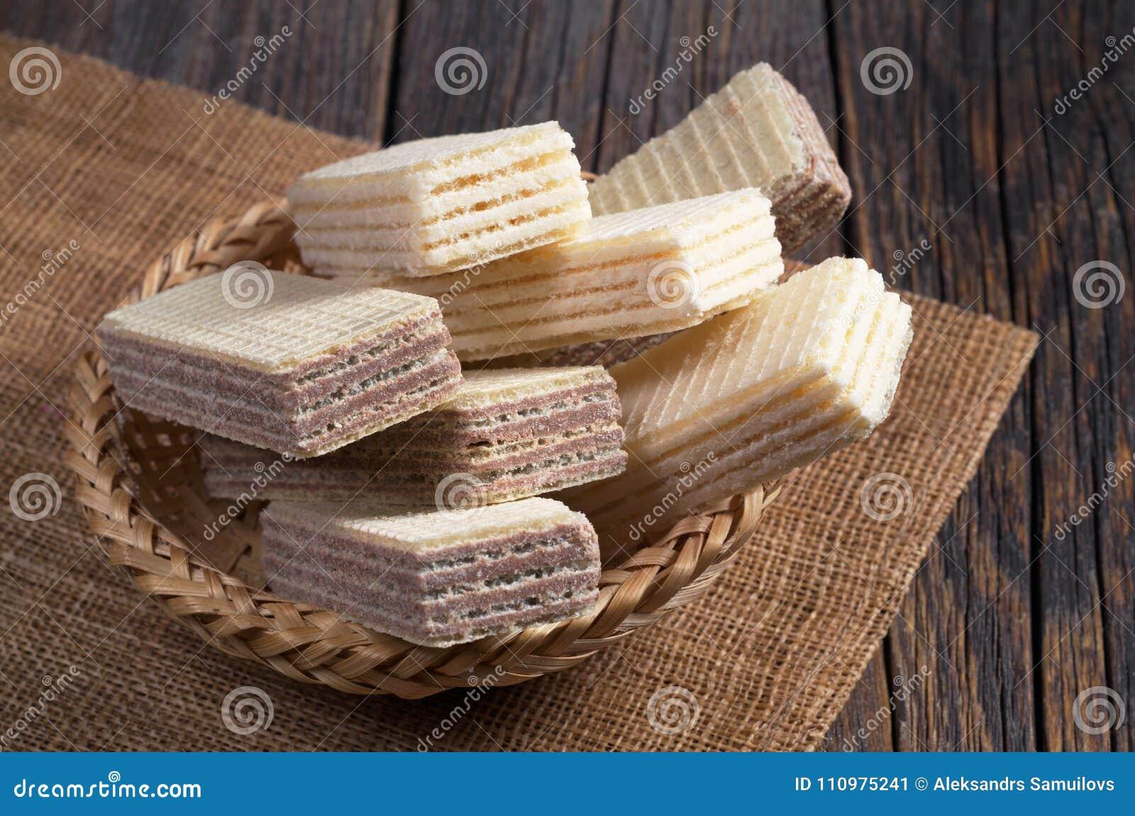 Disques de chocolat et de vanille