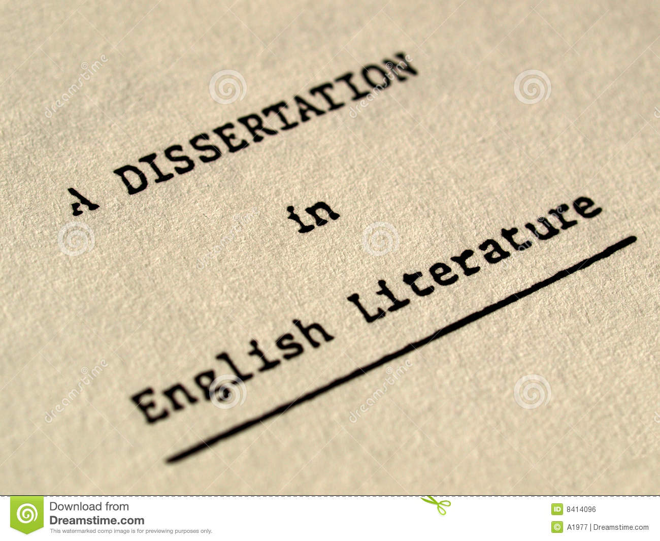 Download A Dissertation In English Literature Stock Photo
