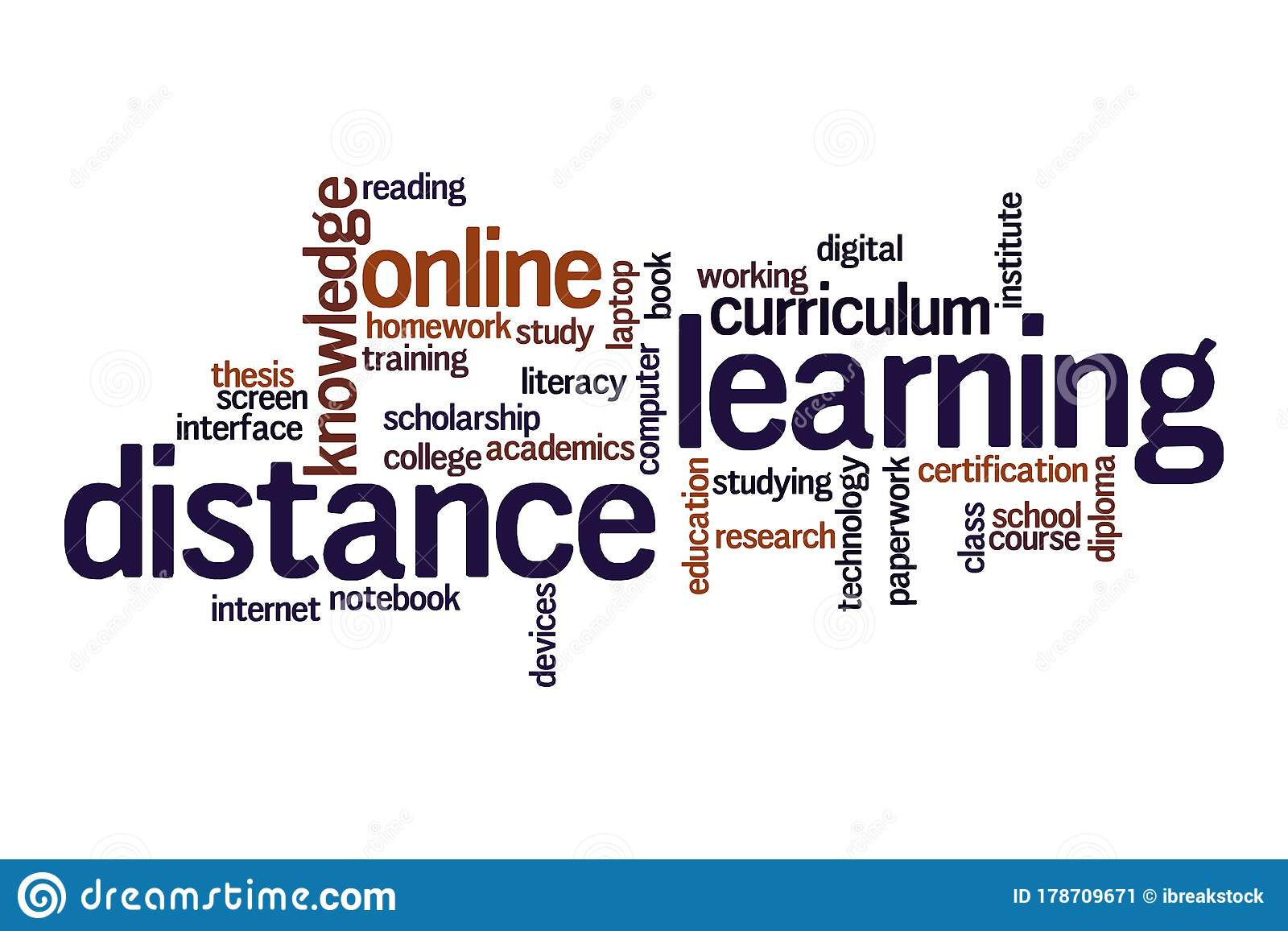 Distance Learning Word Cloud Concept Stock Illustration ...
