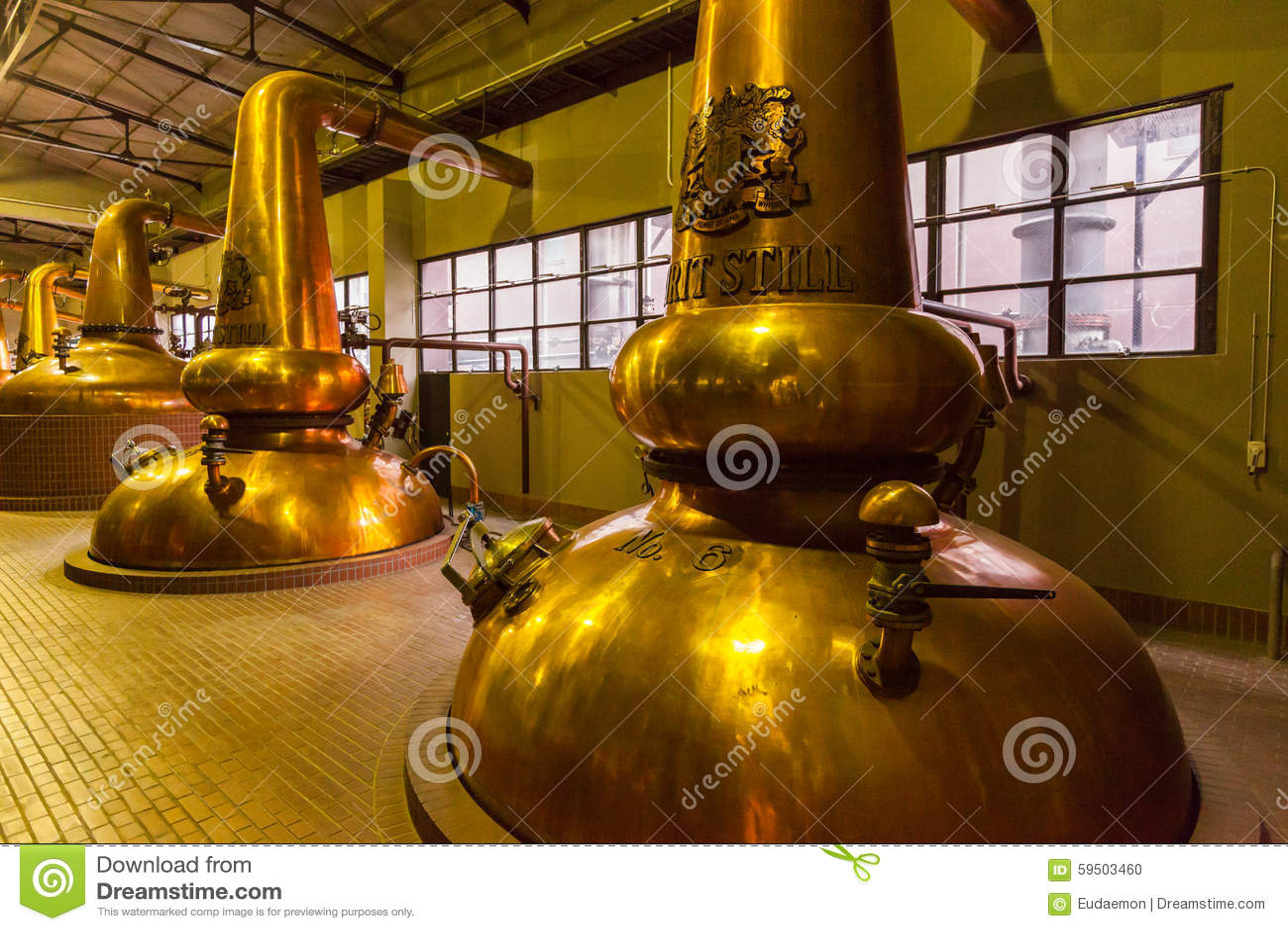 Distillateurs d en cuivre de distillerie de whiskey