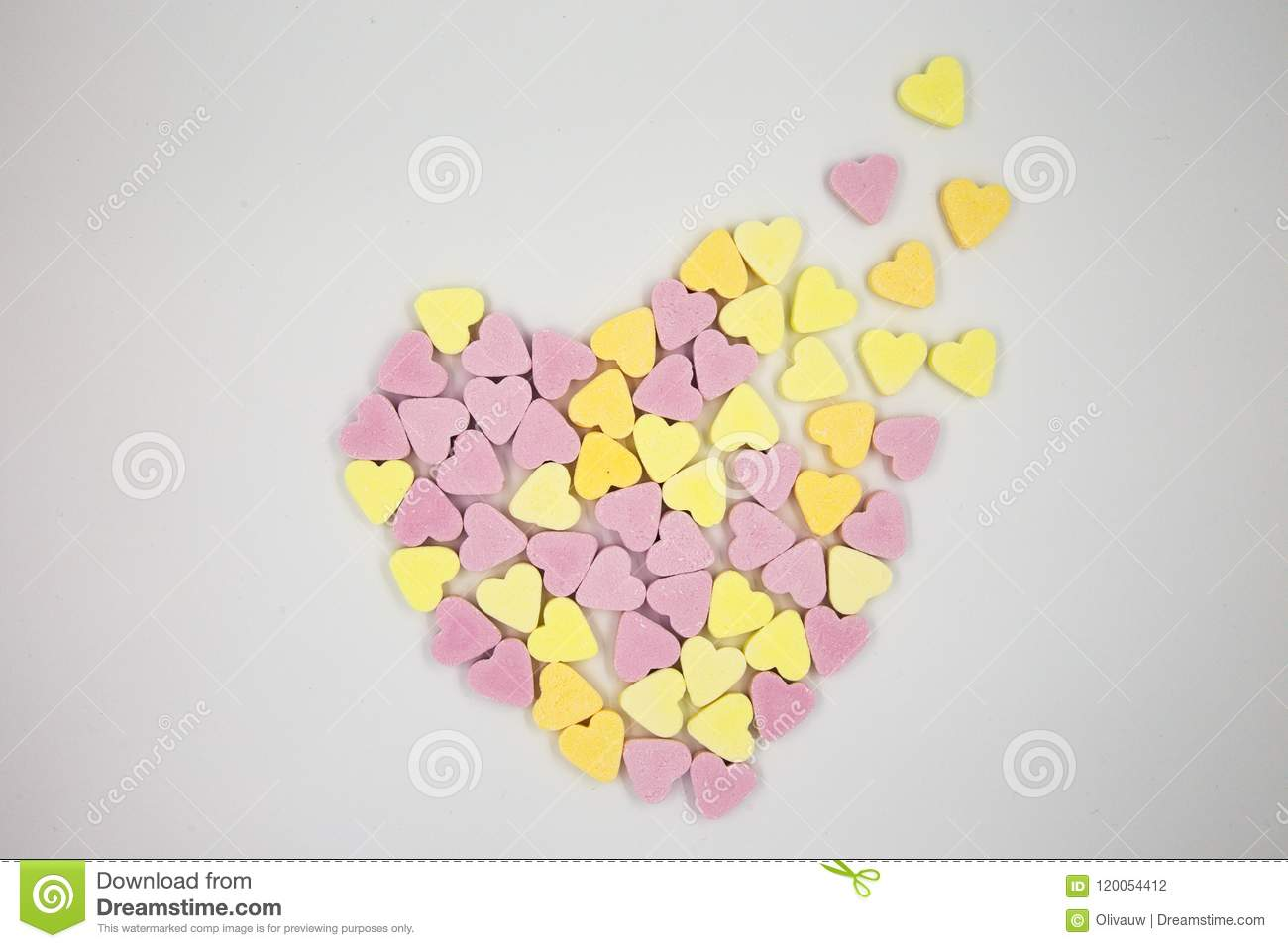 Distingerating Candy Heart