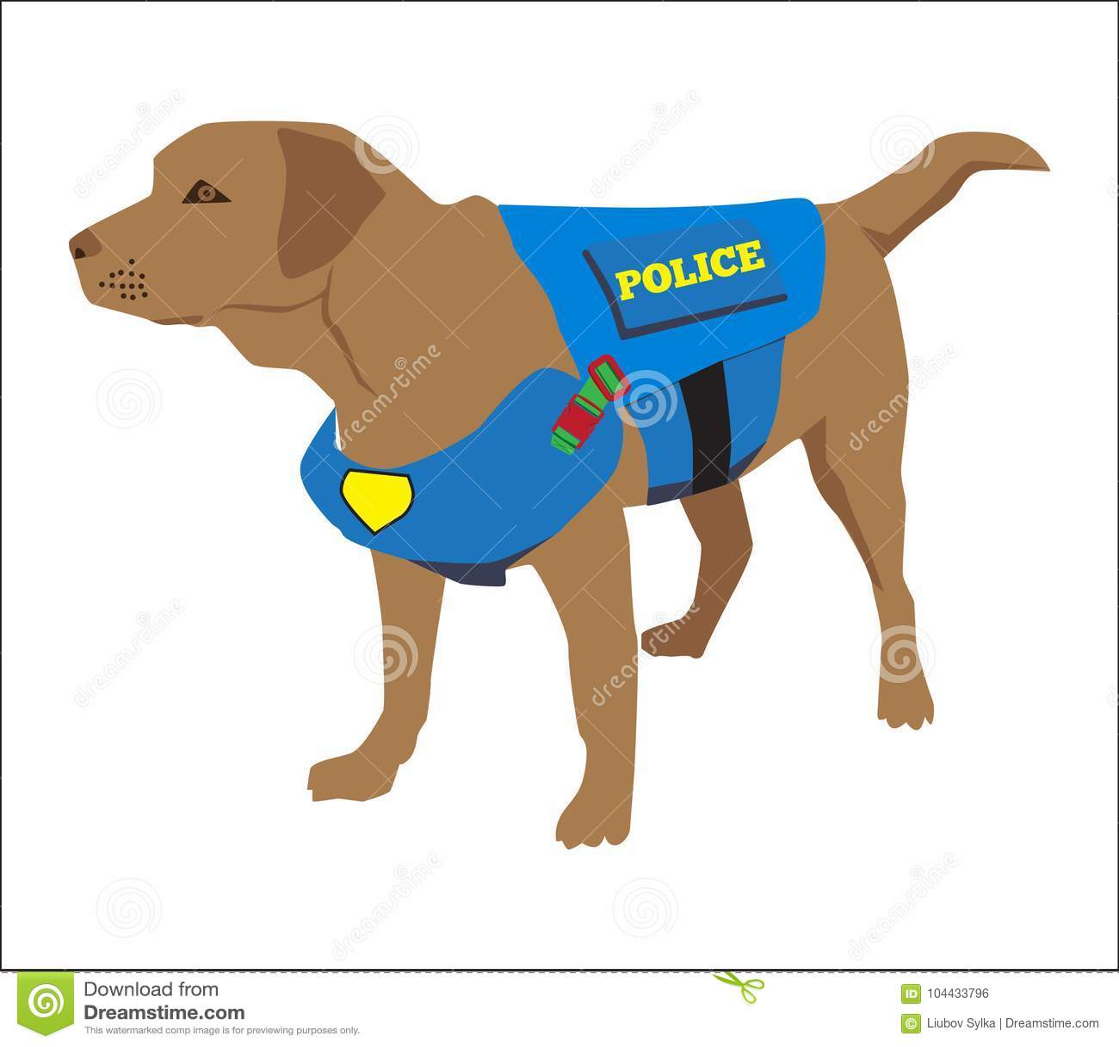 Distintivo Duso Del Cane Poliziotto K9 Cane Antidroga Di Abitudine