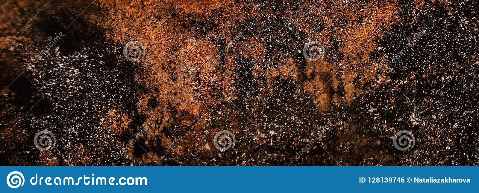 Distress wall metal texture with scratches. Rust Background
