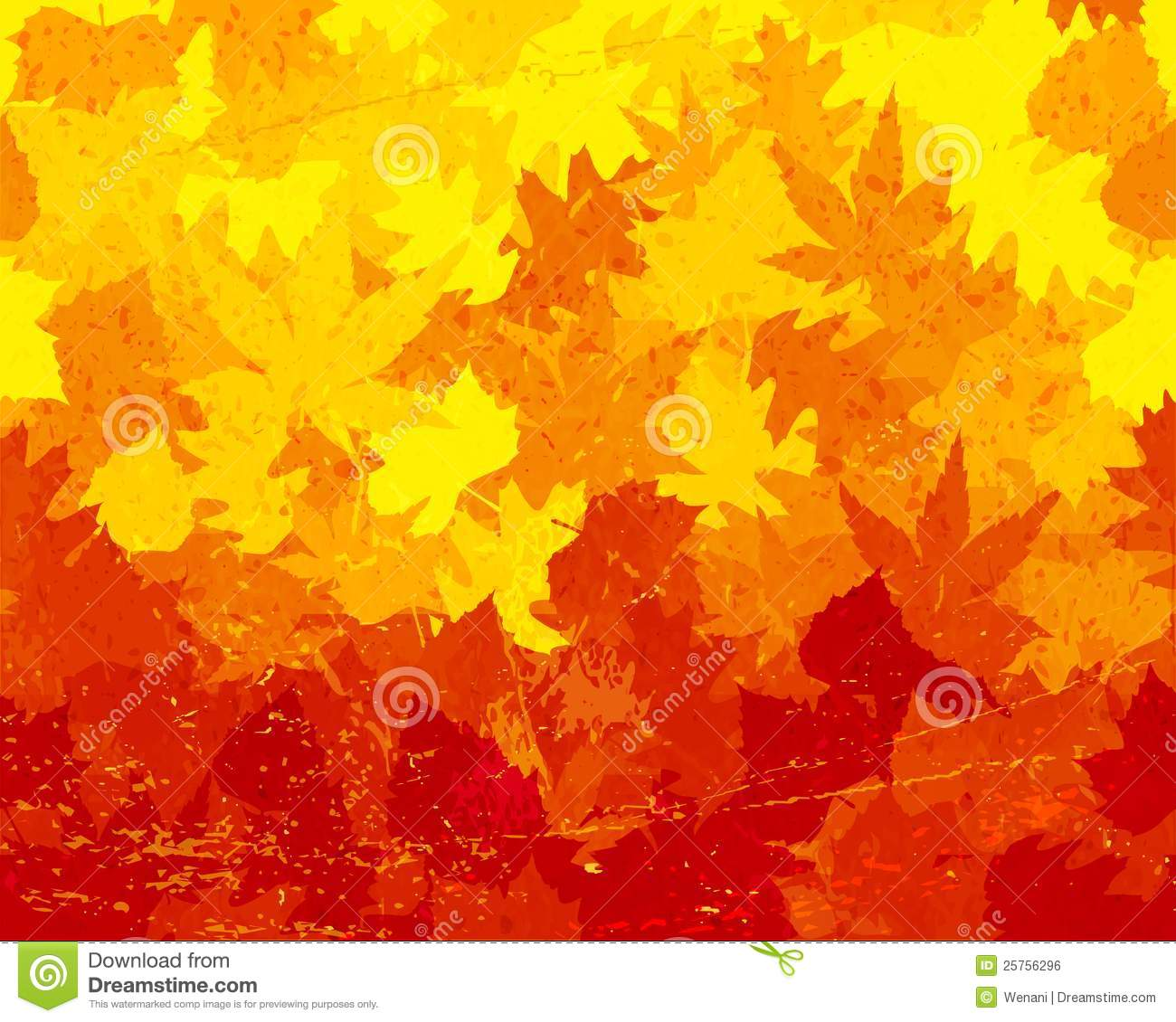Distressed Autumn Leaves Wallpaper Stock Vector