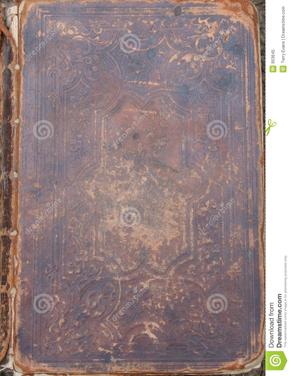 Distressed Leather Grungy Background Stock Image