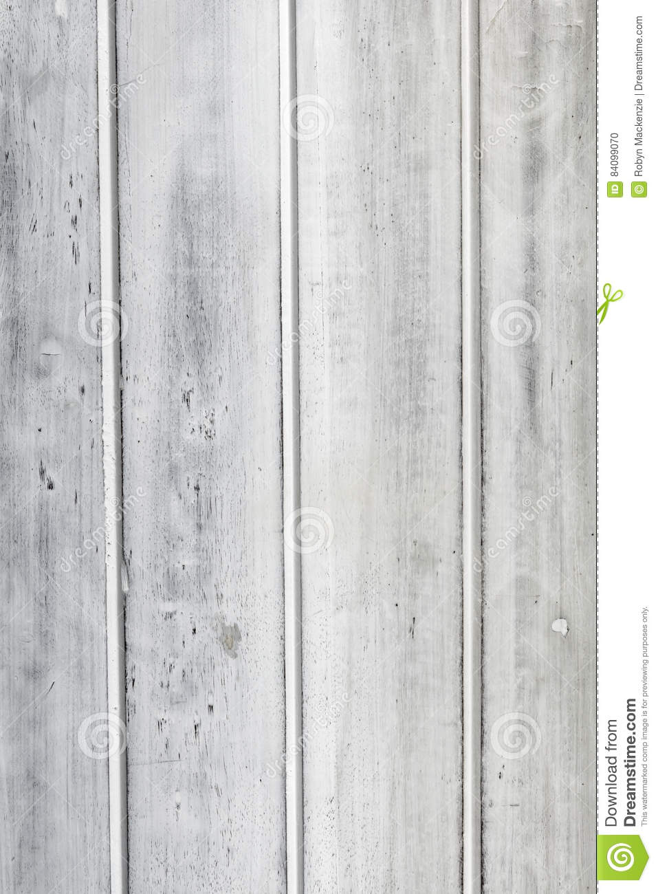 Distressed Painted White Timber Panel