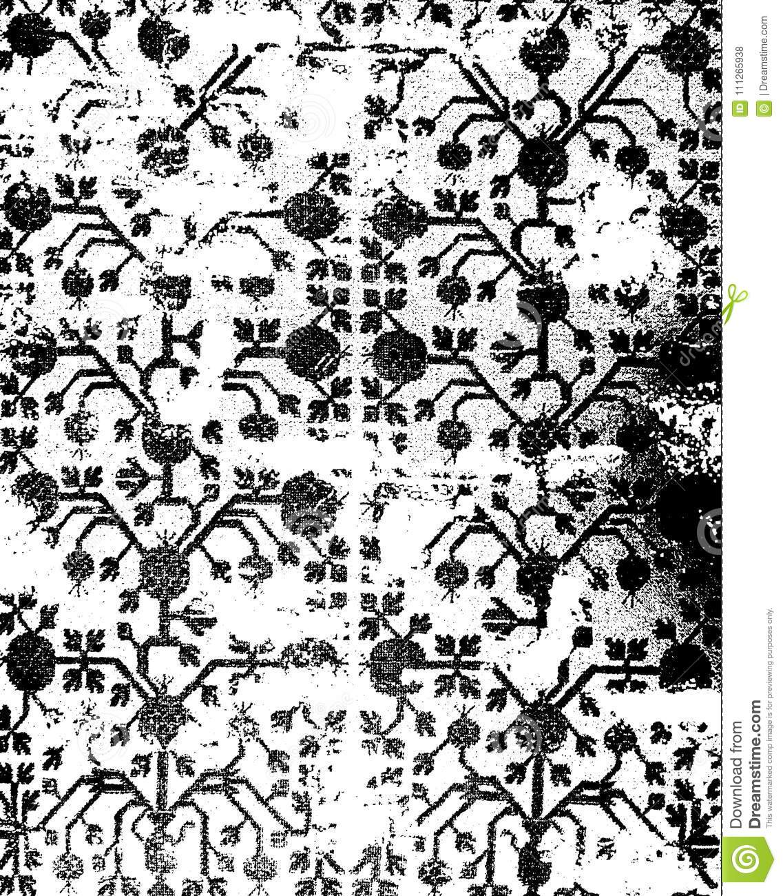db7b98f9 Distressed persian motif all over the surface ideal for carpet and wallpaper  and other graphic needs