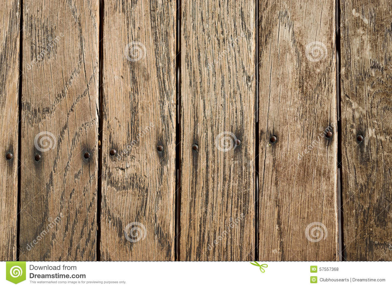 Distressed Vertical Wood Plank Boards Background Stock