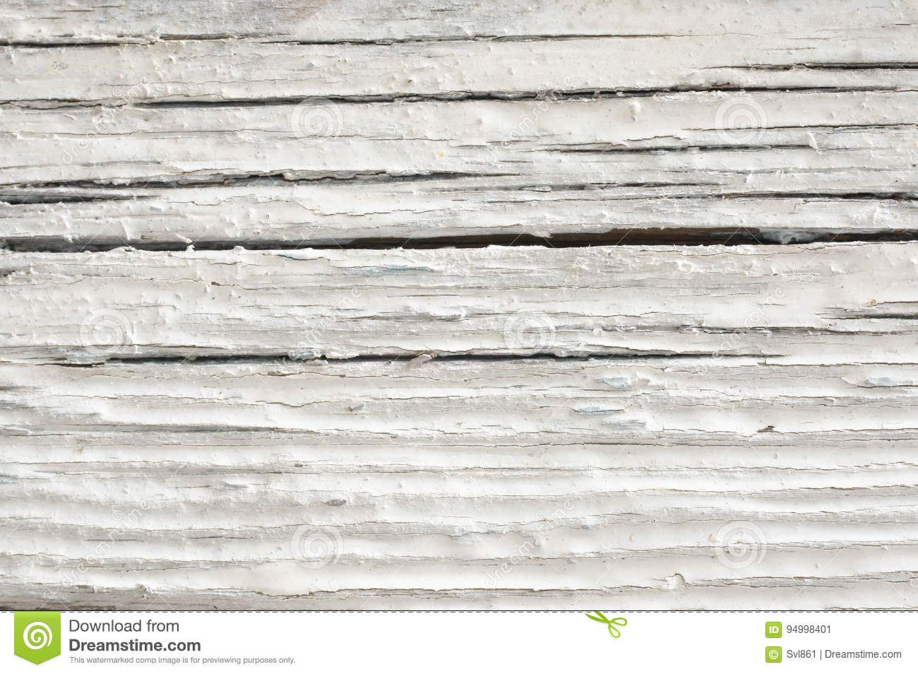 Extreme Distressed White Painted Wood Texture Close Up As Background